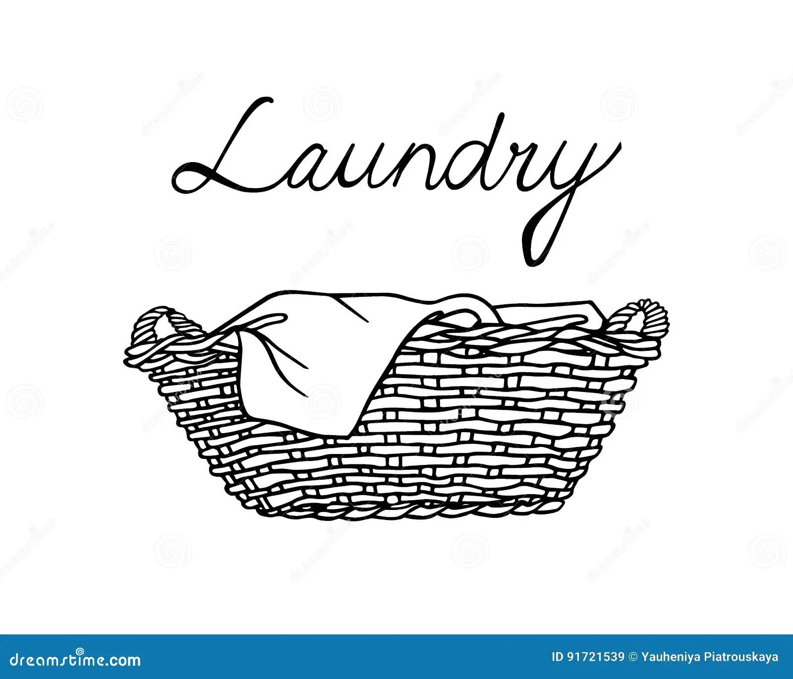 Laundry Basket Illustration Stock Vector