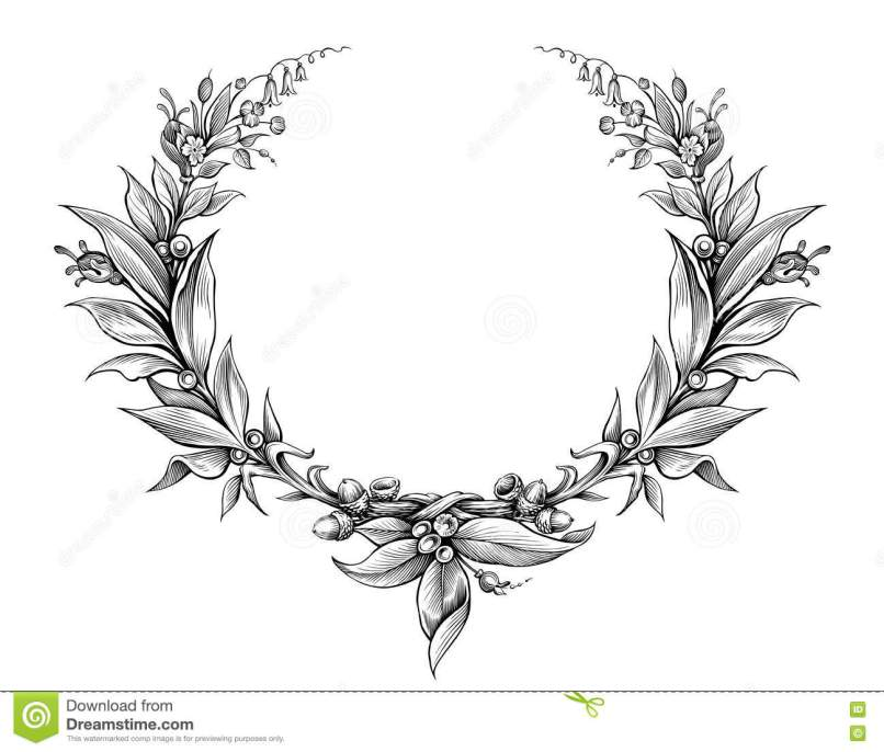 Tattoo Frames With Flowers | Framess.co