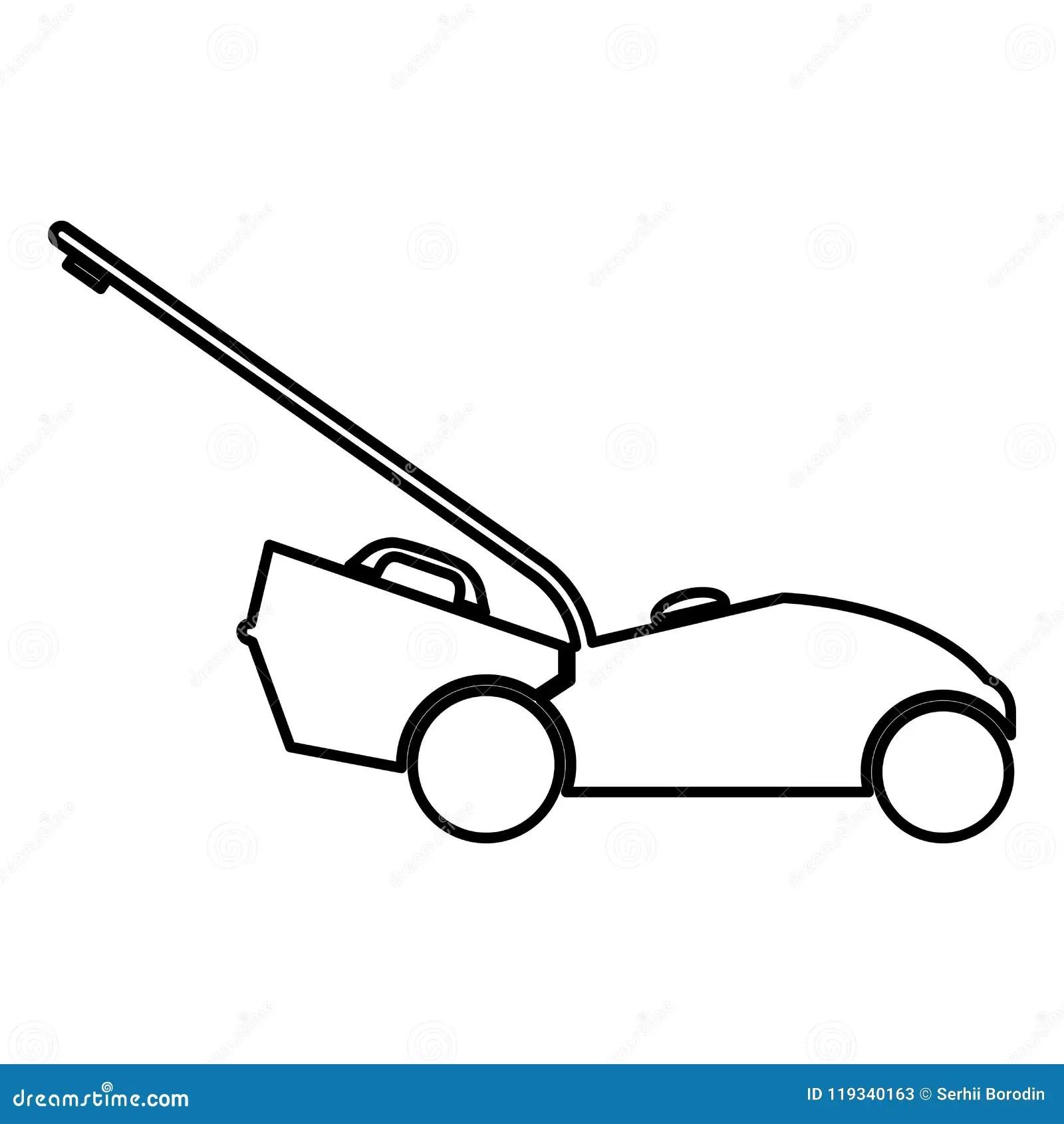 Lawn Mower Service Vector Illustration