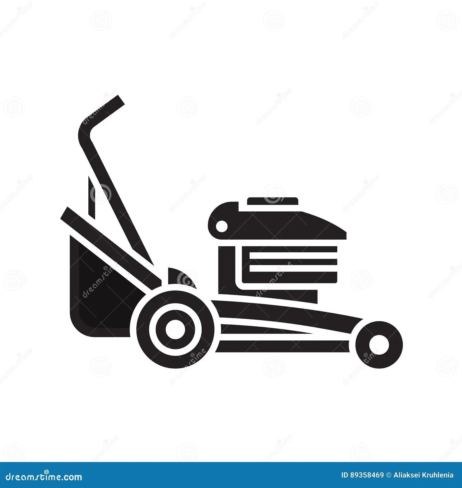 Lawn Mower Icon Stock Vector