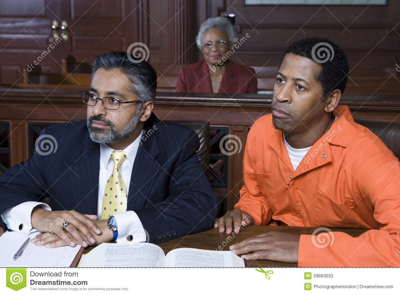 Lawyer And Criminal In Court Stock Photos Image 29663033