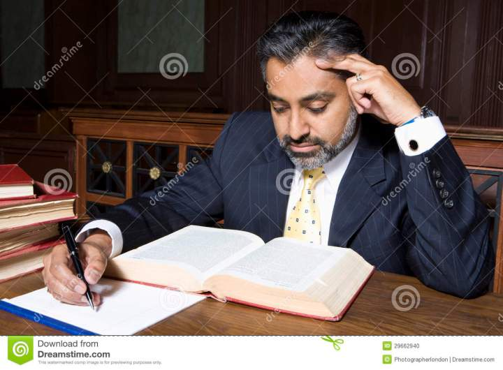Lawyer Reading Law Book Stock Photo Image 29662940