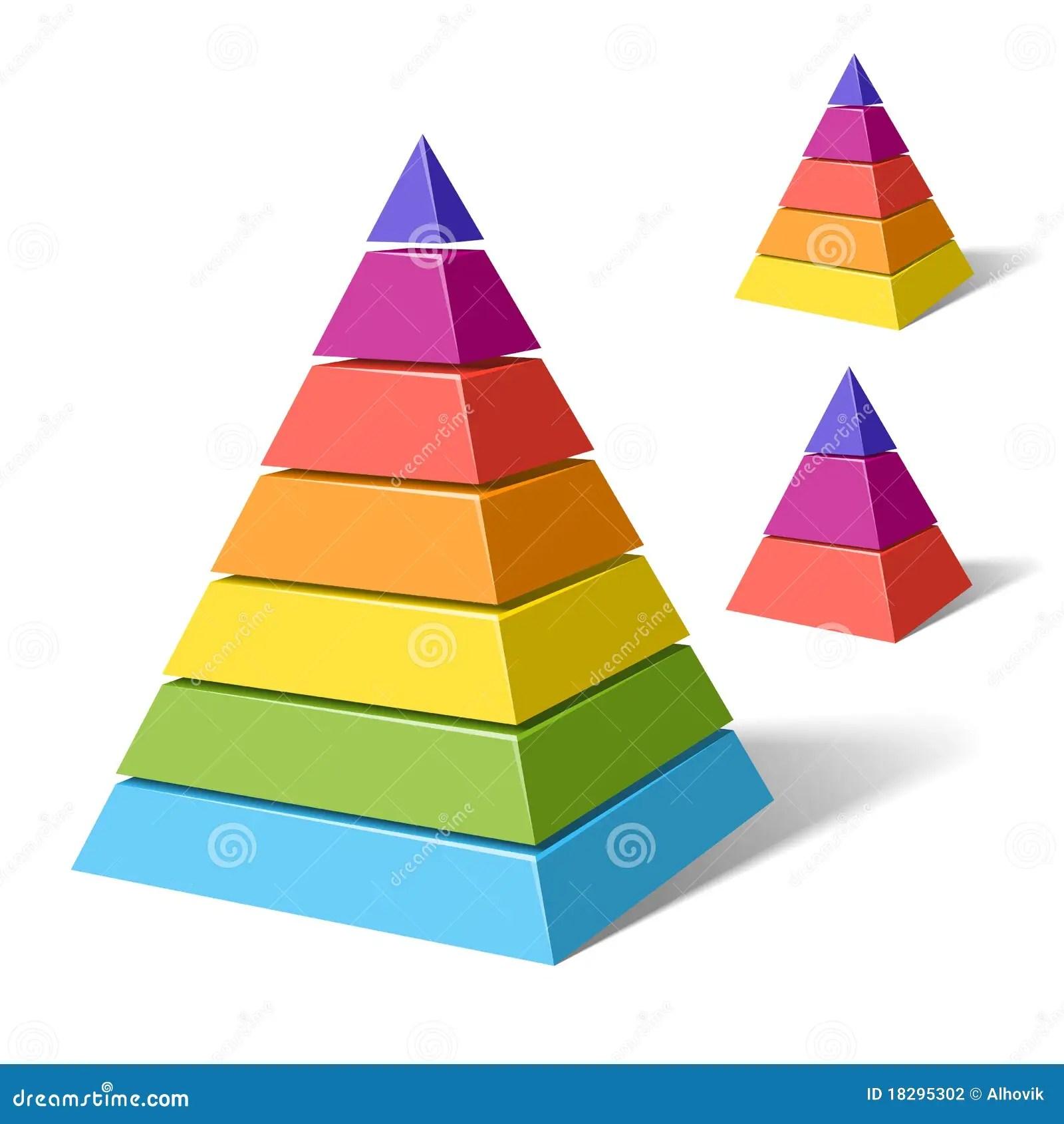 Layered Pyramids Stock Vector Illustration Of Reflection