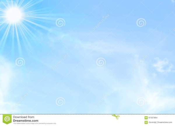 Le Ciel Bleu Avec Le Jour Du Soleil Et De Nuages Allument ...