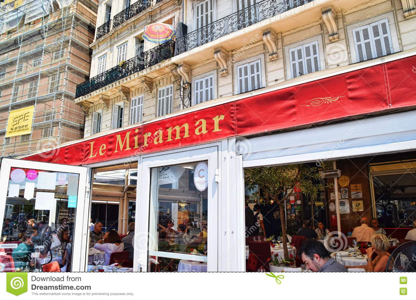 Le Miramar Marseille Editorial Stock Photo Image Of