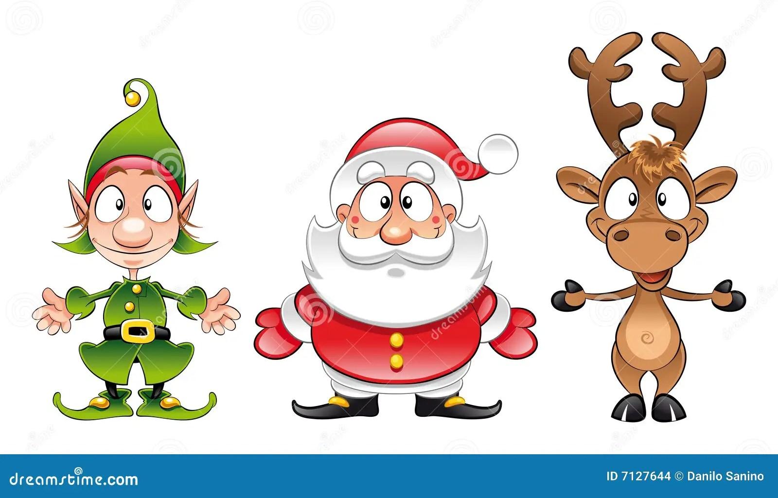 Le Pere Noel Elfe Rudolph Illustration De Vecteur