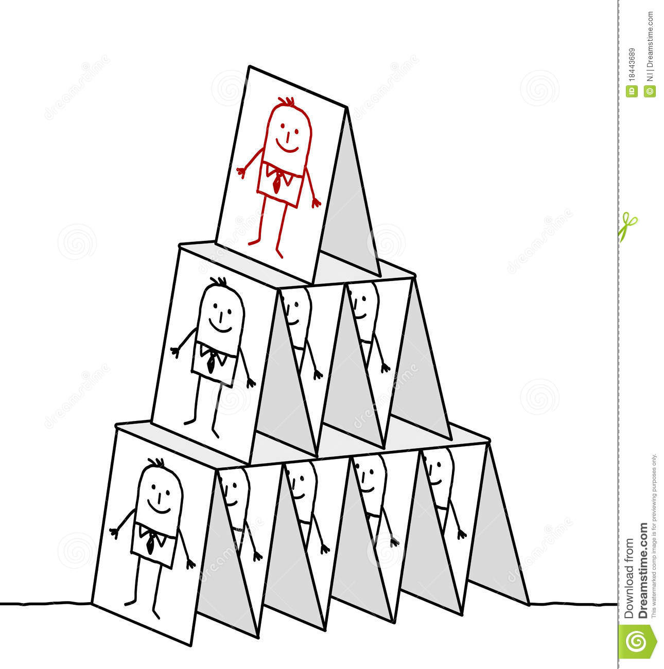Leadership Amp Cards Pyramid Royalty Free Stock Images
