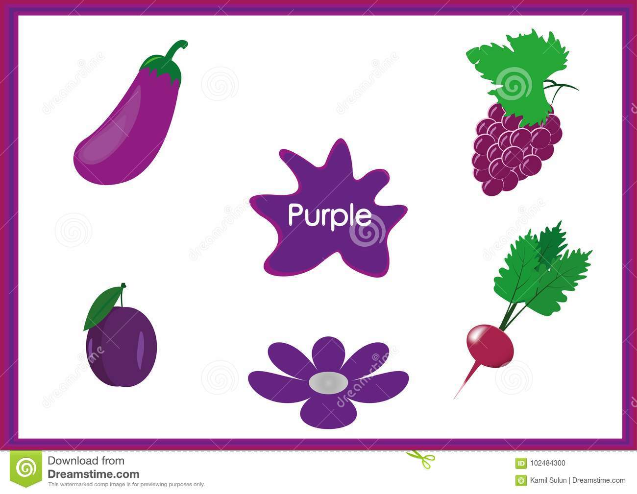 Purple Learning Worksheet