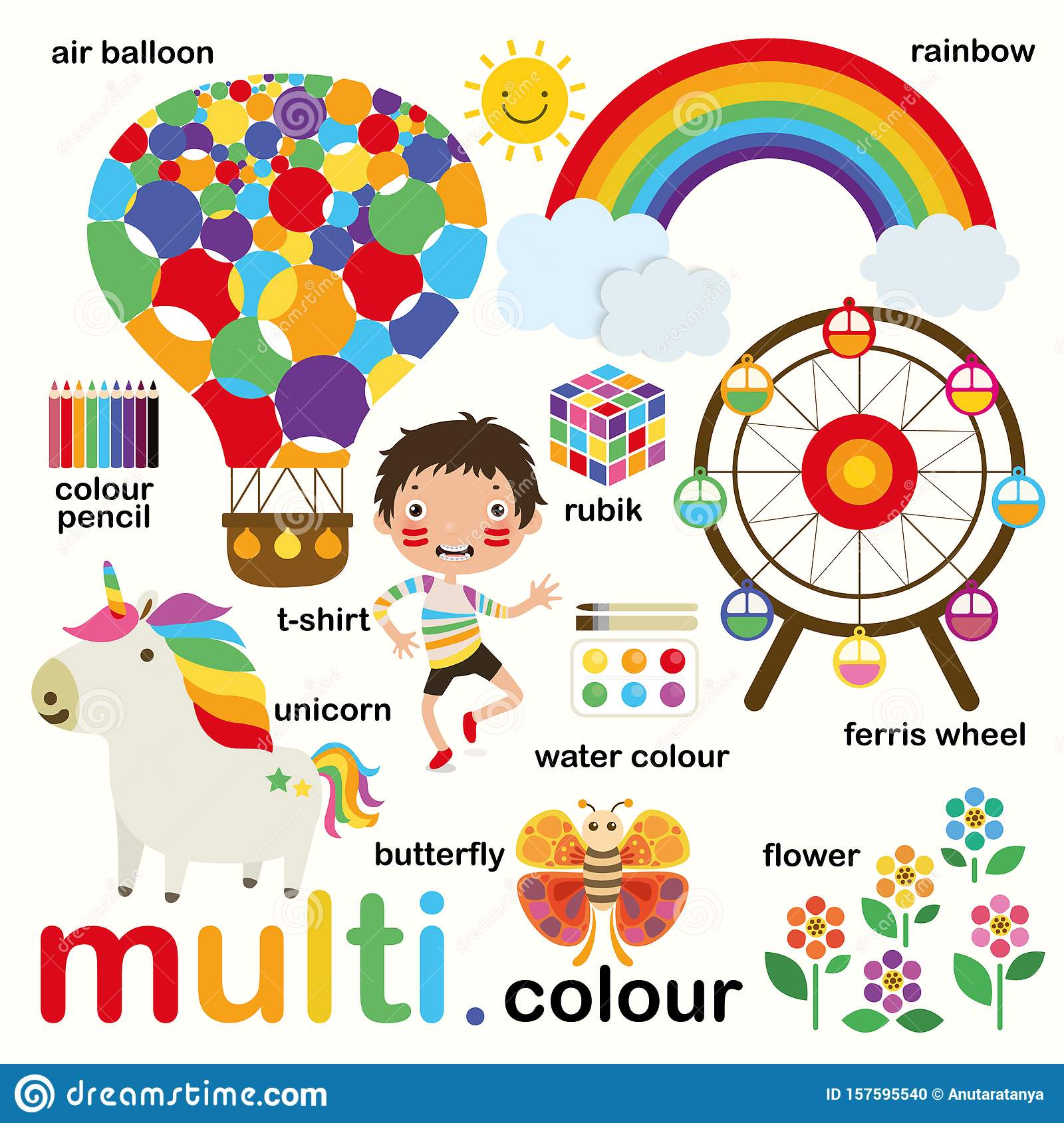 Learn Multi Colors Educate Color And Vocabulary Set