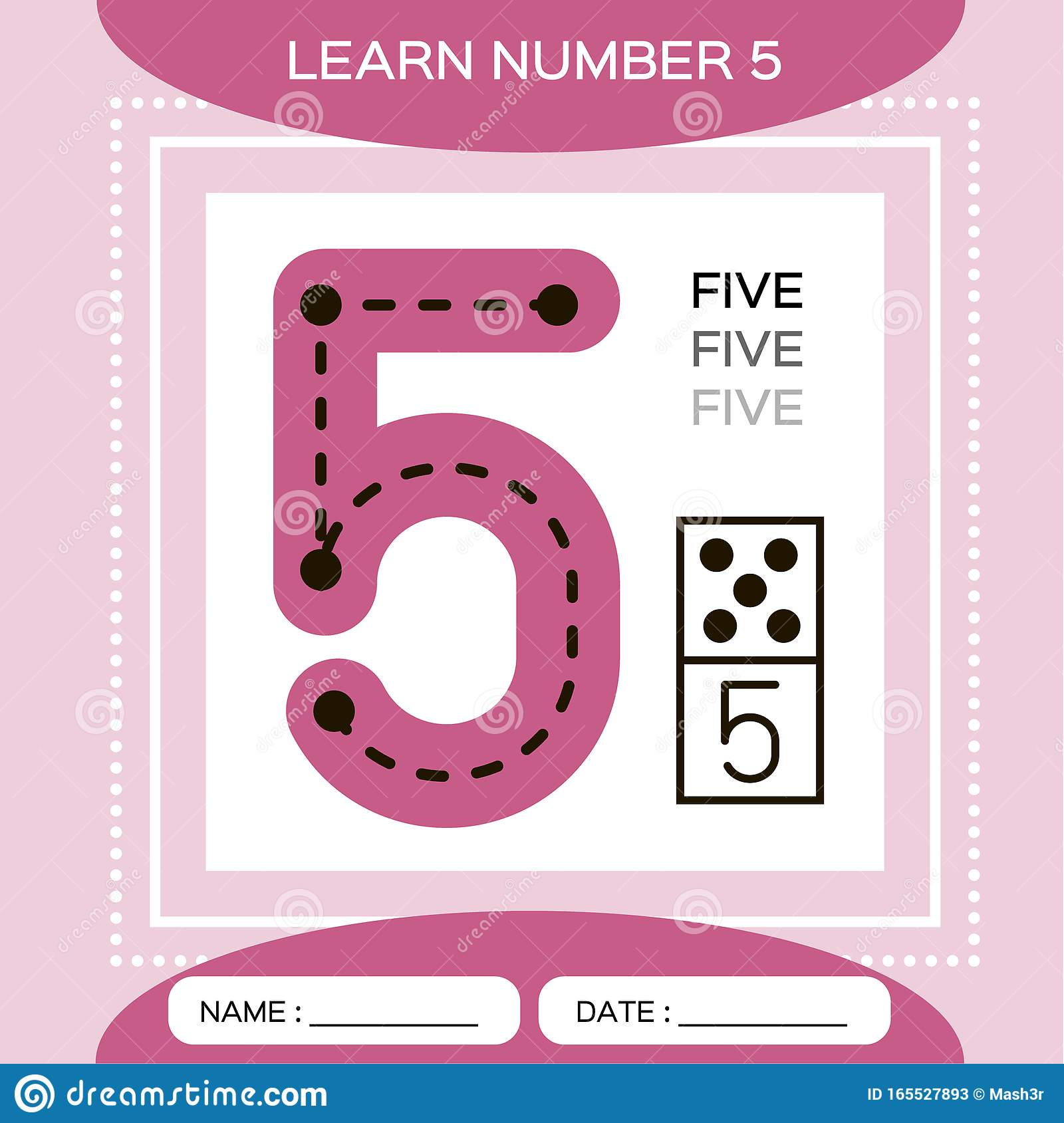 Learn Numbers 5 Five Children Educational Game Kids