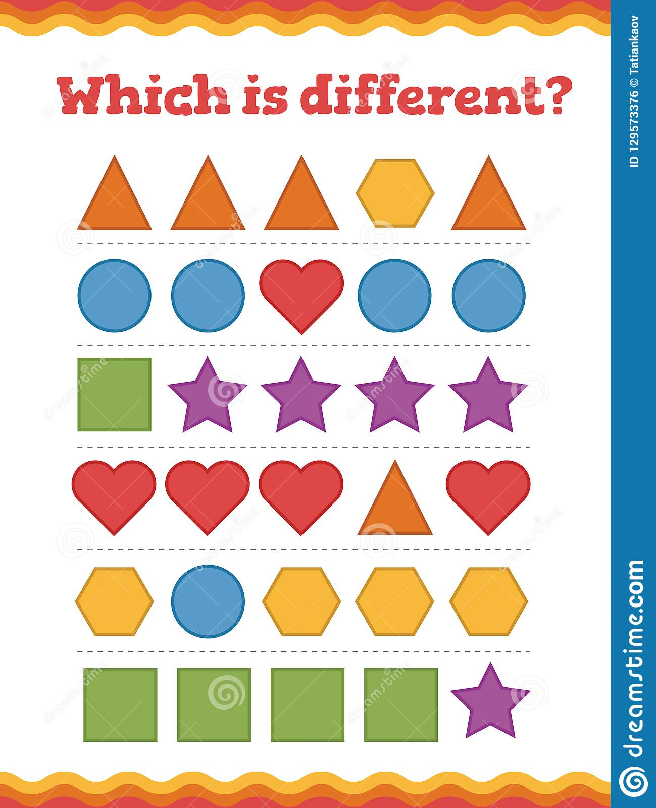 Learn Shapes And Geometric Figures Which Is Different