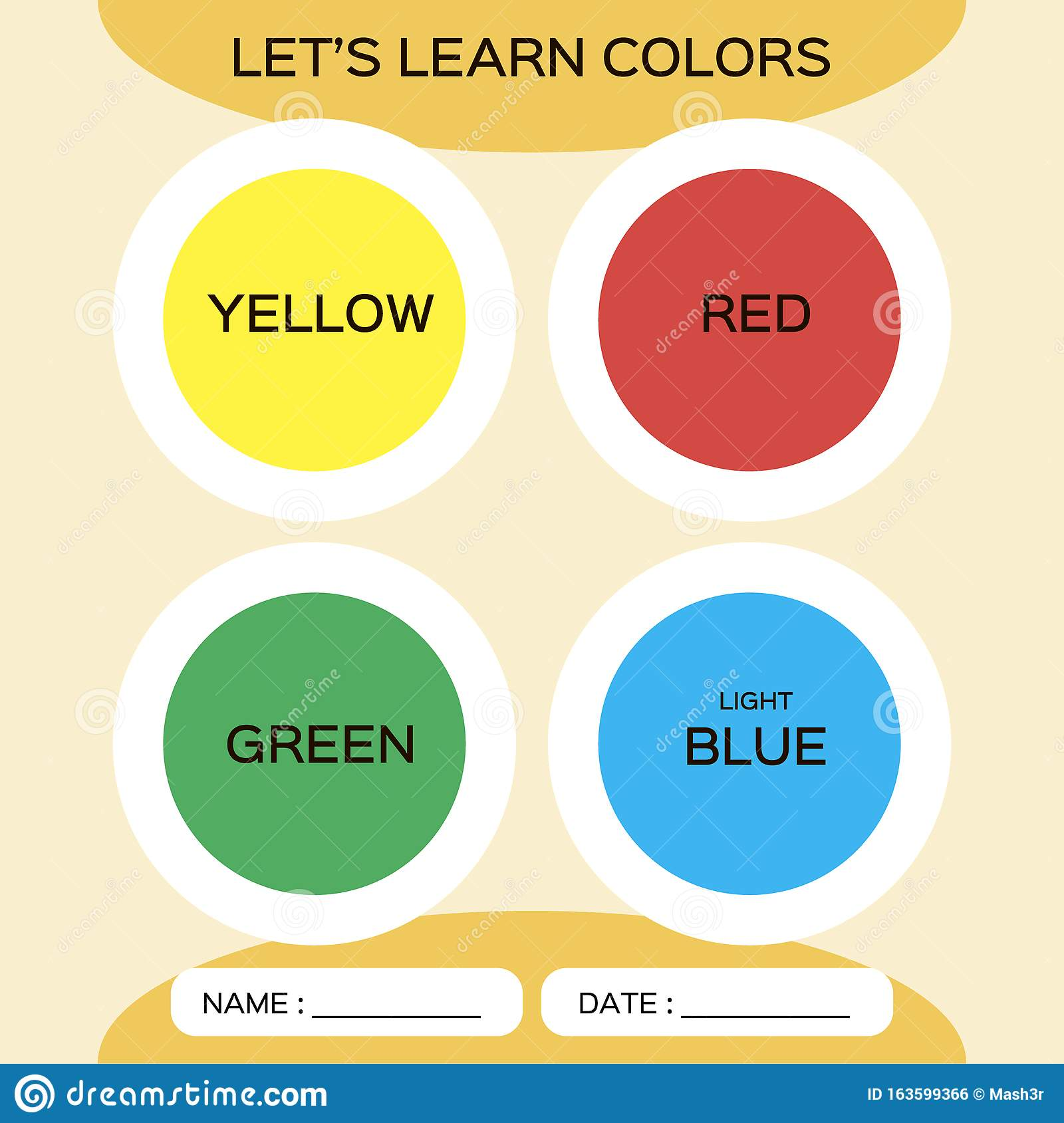 Learning Circle Shapes With Color For Kids Education