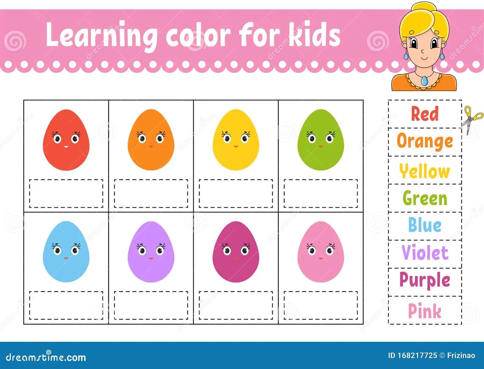 Learning Color For Kids Education Developing Worksheet