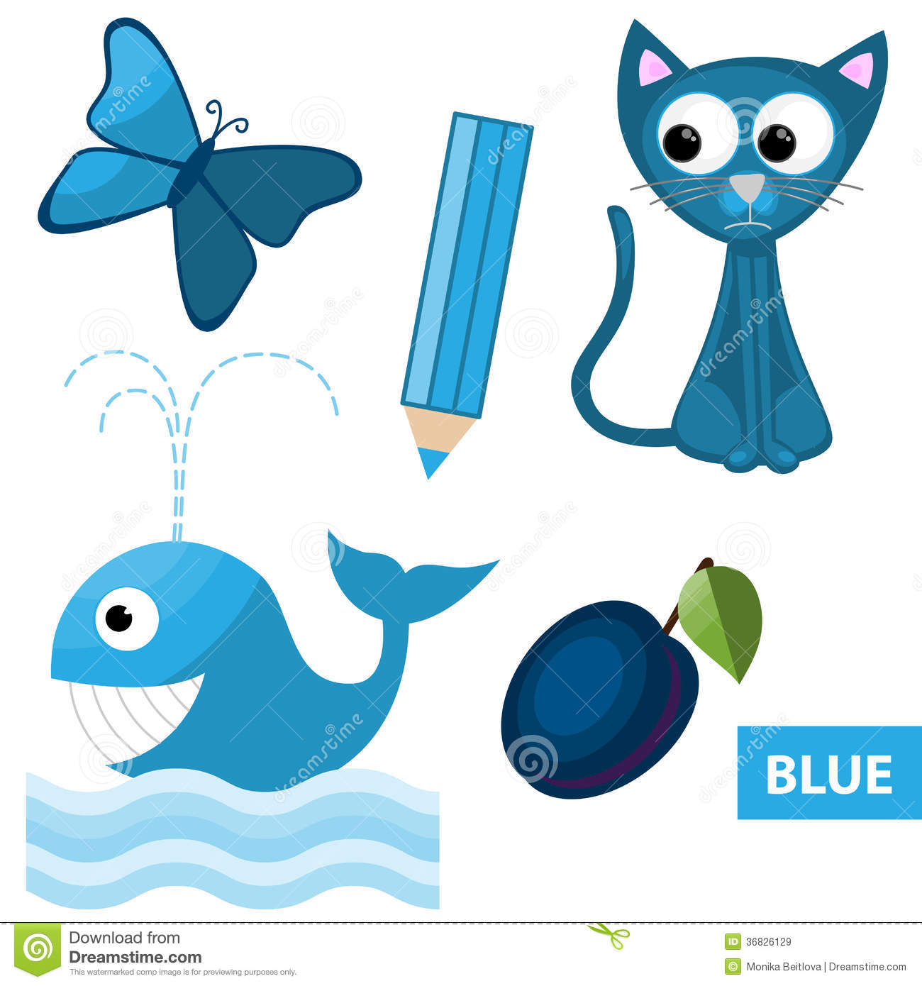 Learning Colors Blue