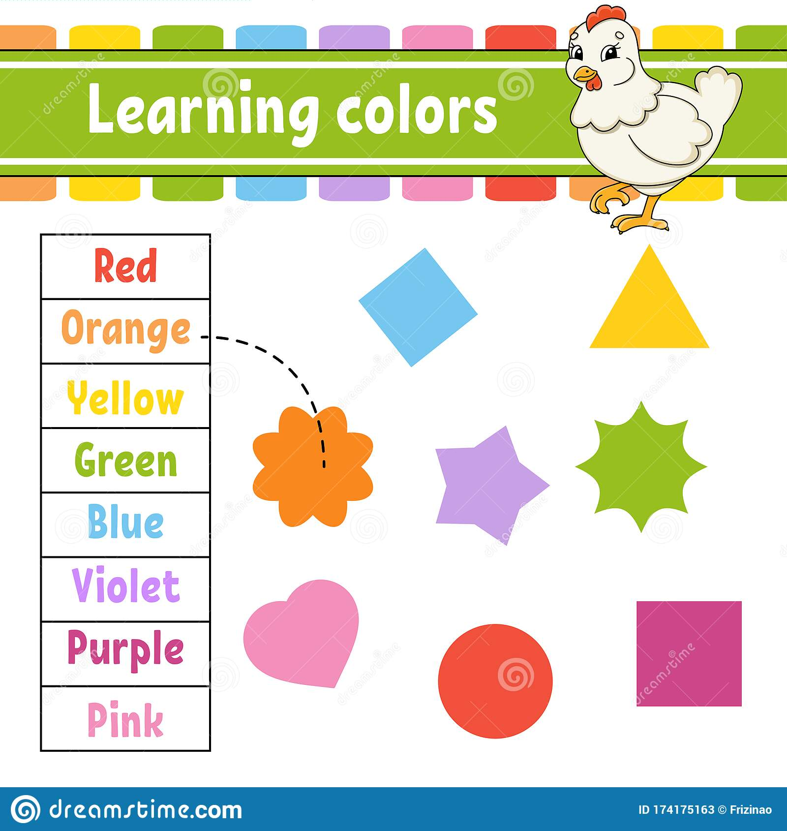 Learning Colors Education Developing Worksheet Lovely