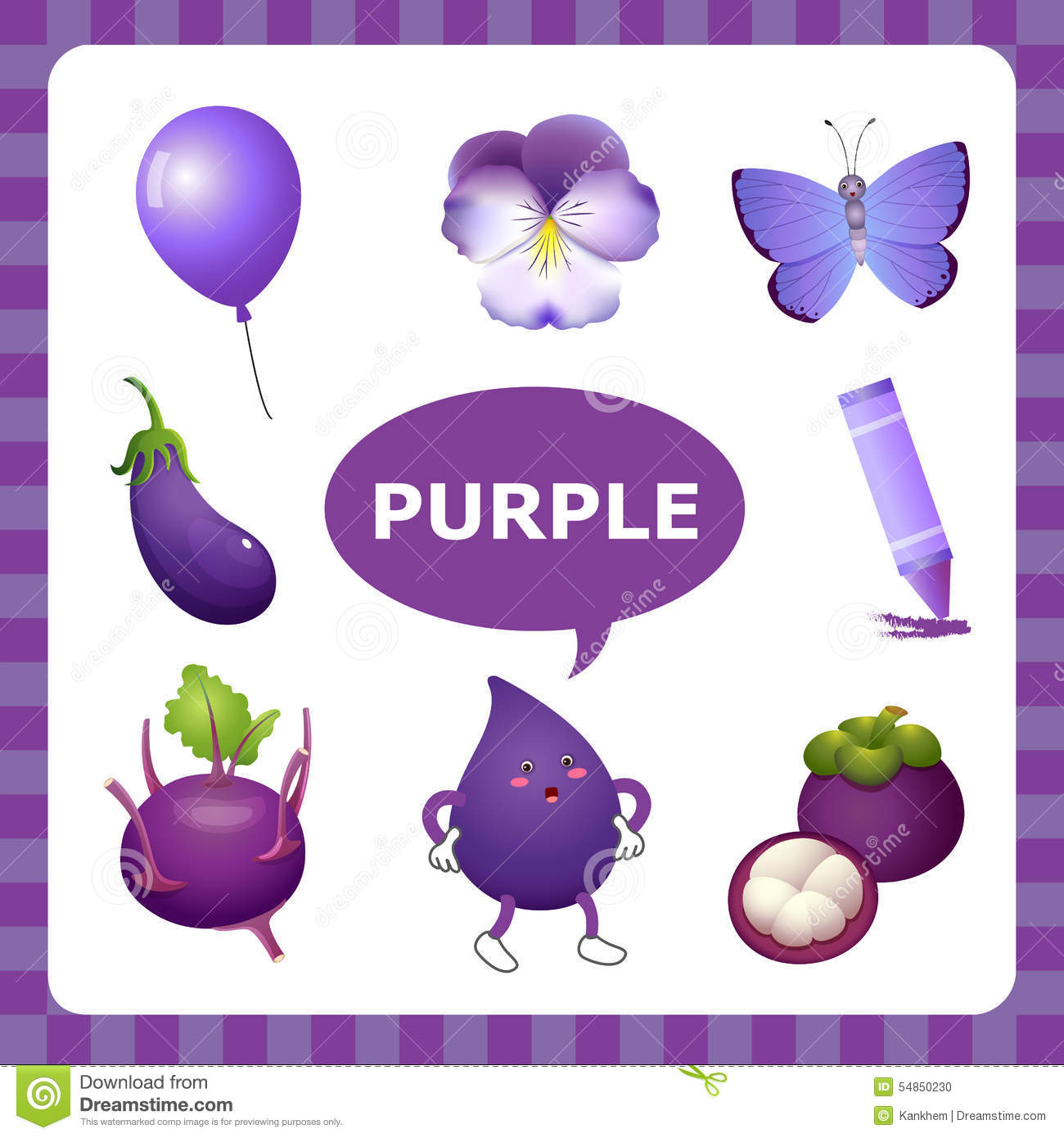 Learning Purple Color Stock Vector Illustration Of