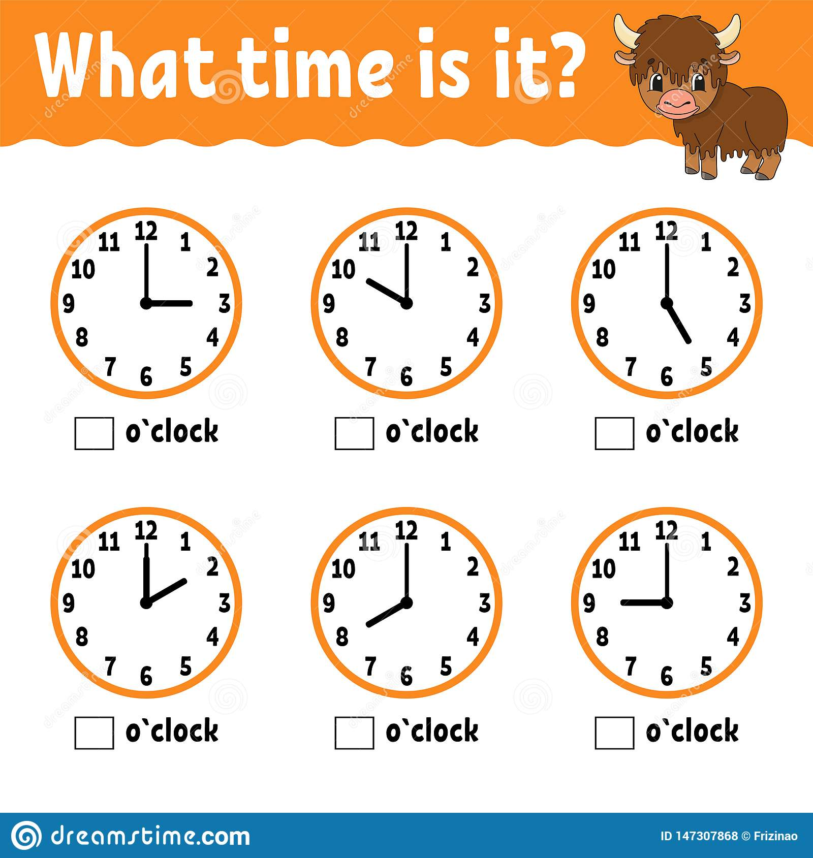 Learning Time On The Clock Educational Activity Worksheet