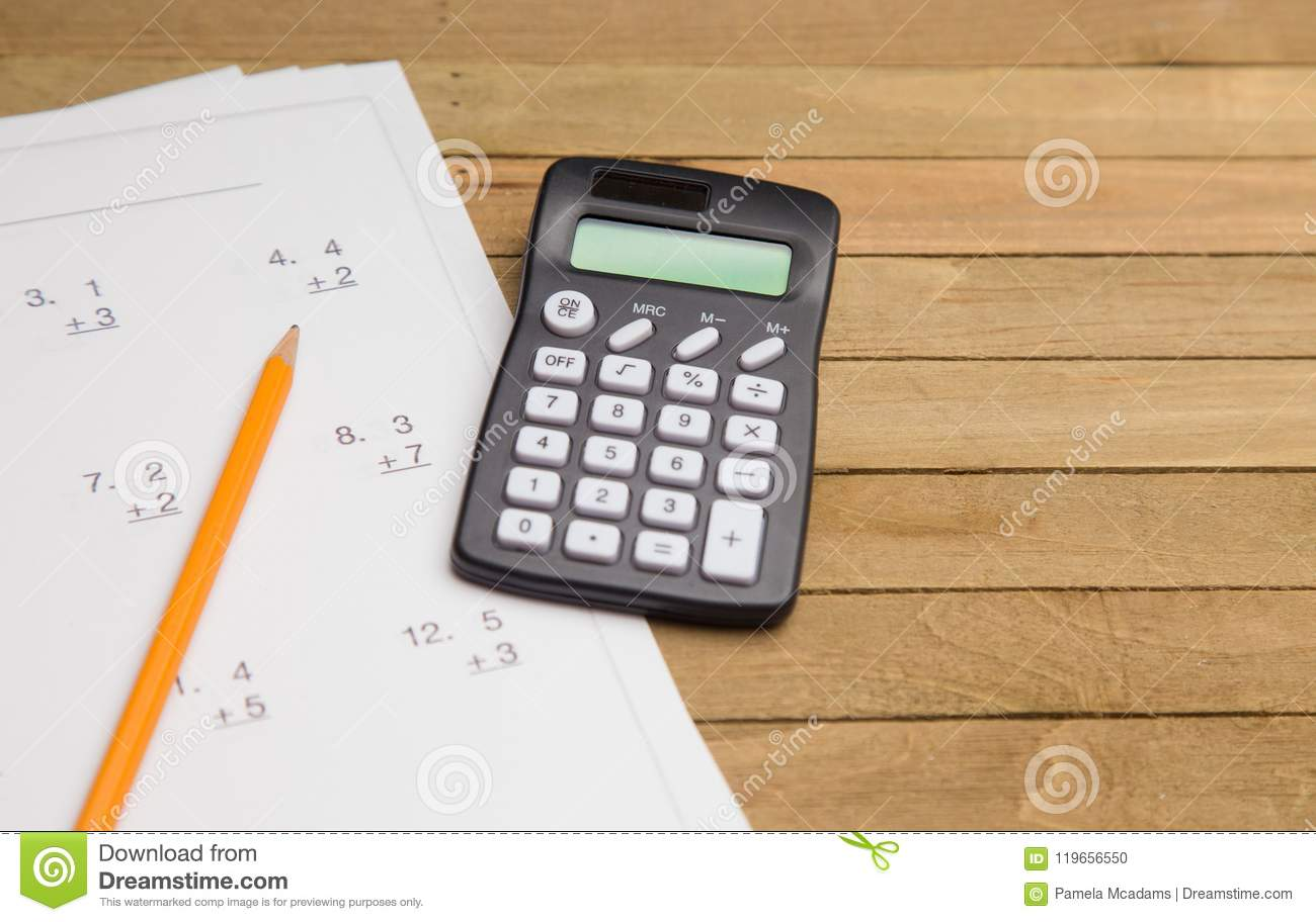 Learning To Do Math Stock Photo Image Of Fill Arithmetic