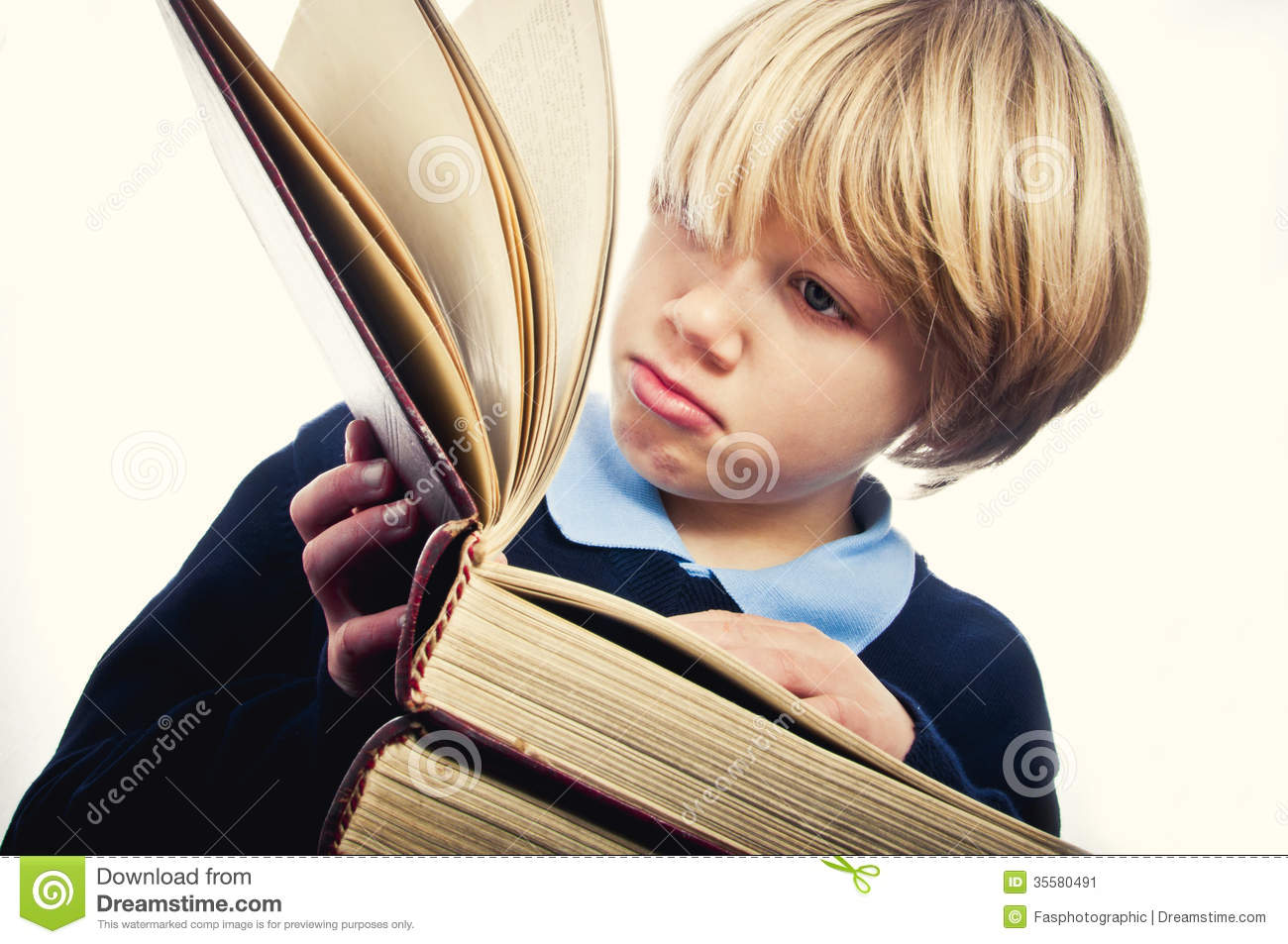 Learning To Read Stock Image