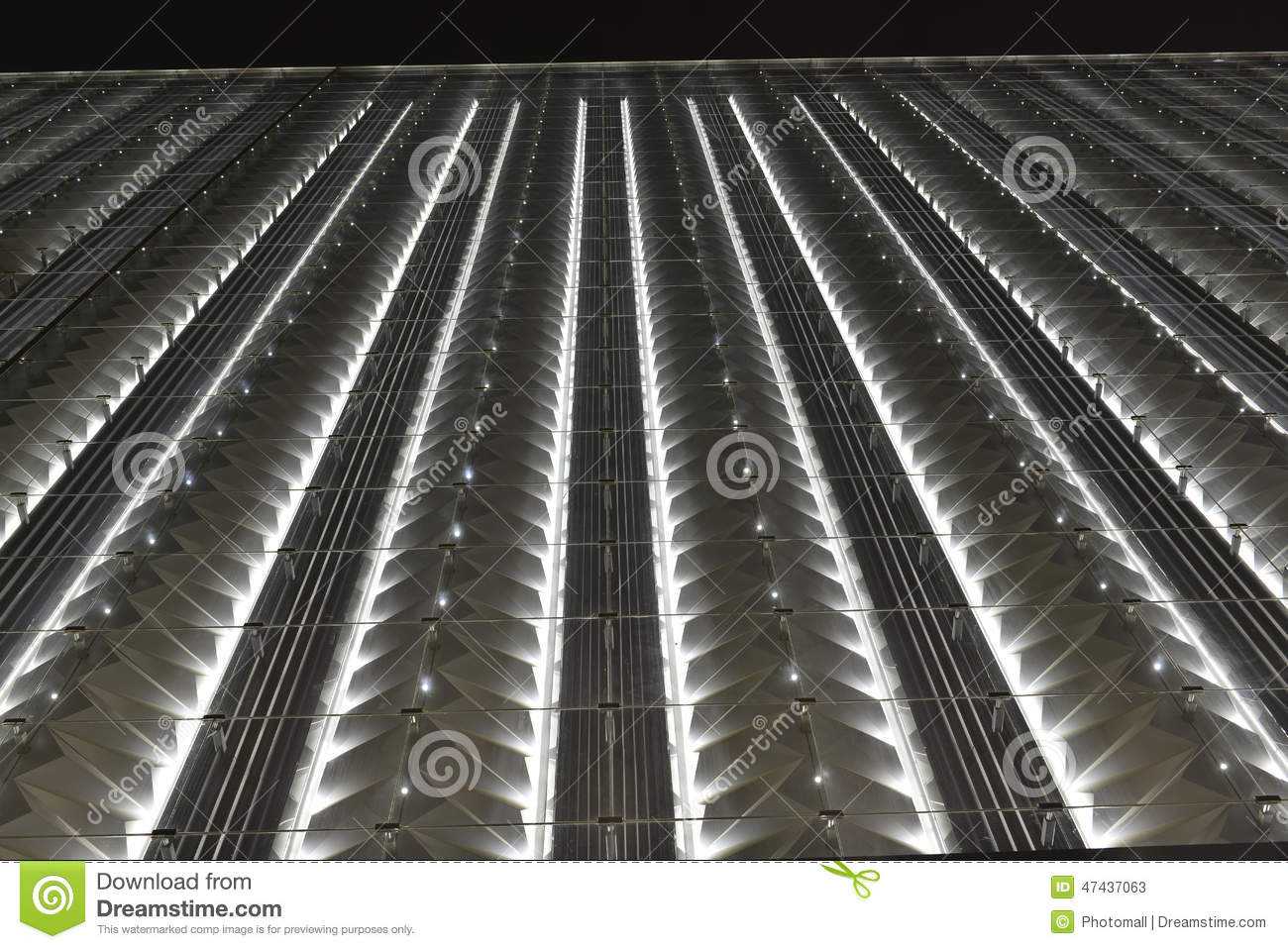 led curtain wall night lighting of modern commercial building stock image image of glaza center 47437063