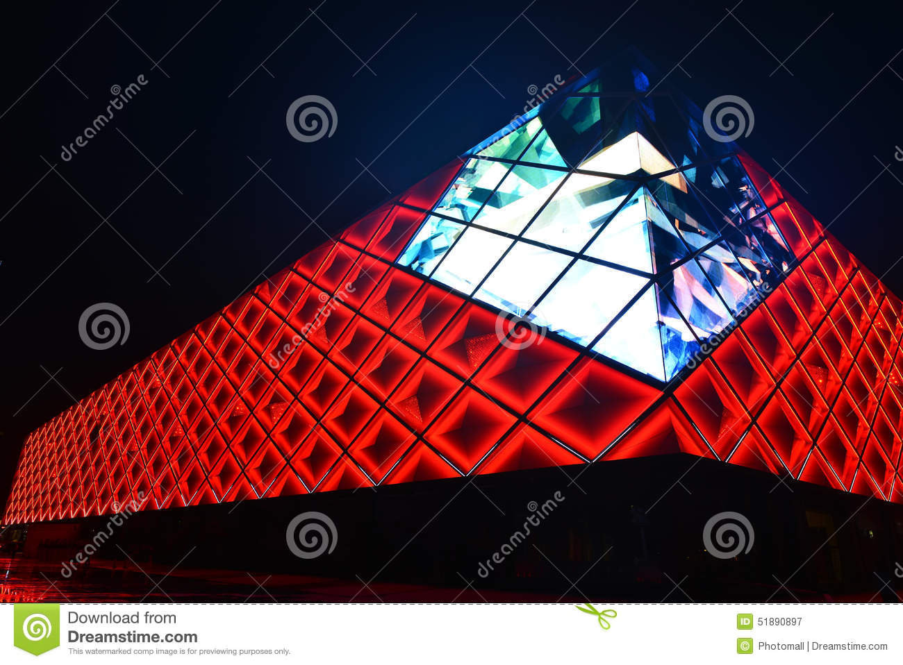 led lights curtain wall of modern commercial building stock image image of business commerce 51890897