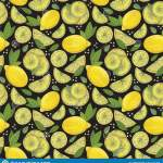 Lemon Fruit Seamless Pattern Fashion Design Food Printing For Dress Curtain Or Kitchen Towel Hand Drawn Wallpaper Vector Stock Illustration Illustration Of Abstract Pattern 155532728