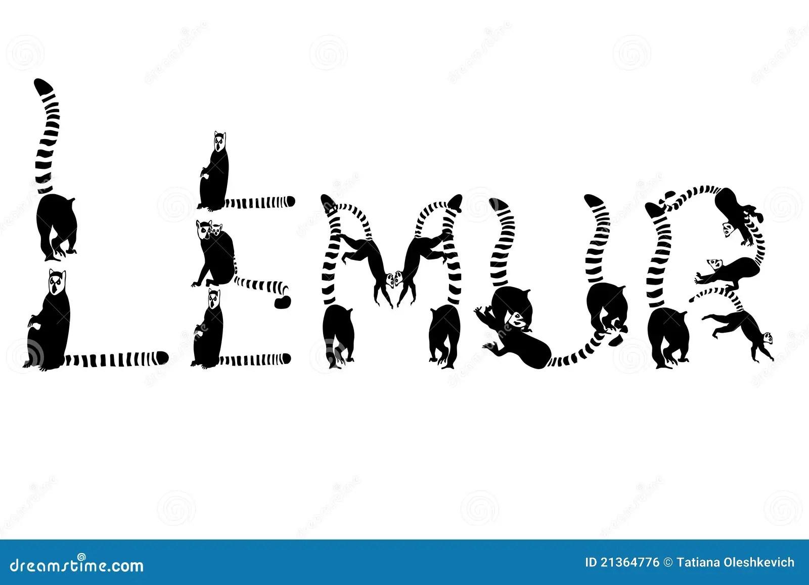 Lemurs Illustration Stock Illustration Illustration Of