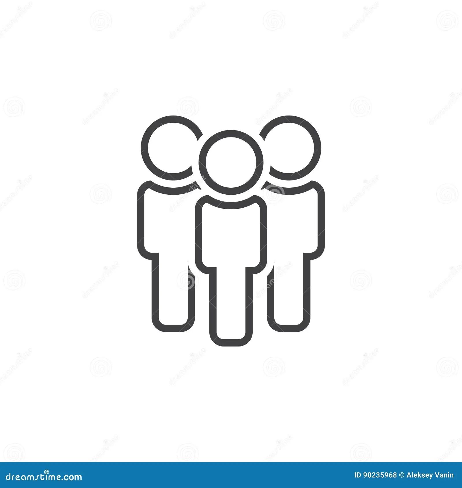 Les Gens Rayent L Icone Illustration De Logo D Ensemble D