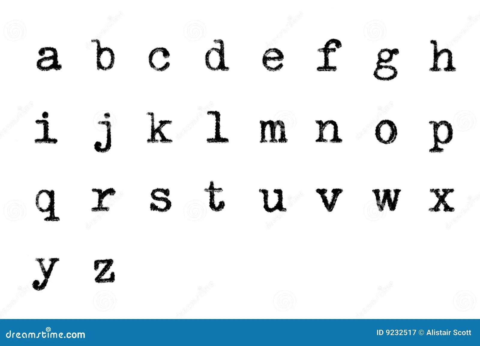 Les Lettres Sales De Fonte De Cas S Abaissent Image Stock