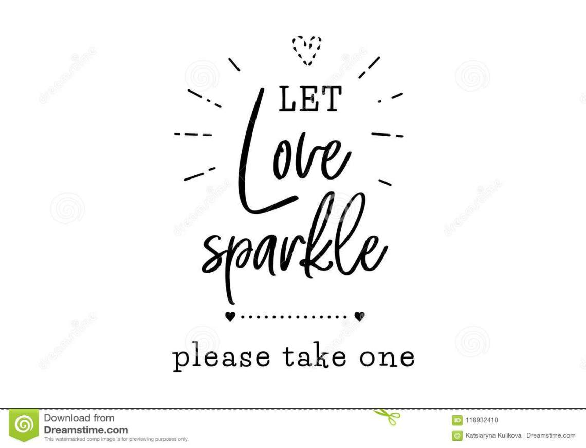 Let Love Sparkle Wedding Typography Stock Vector ...