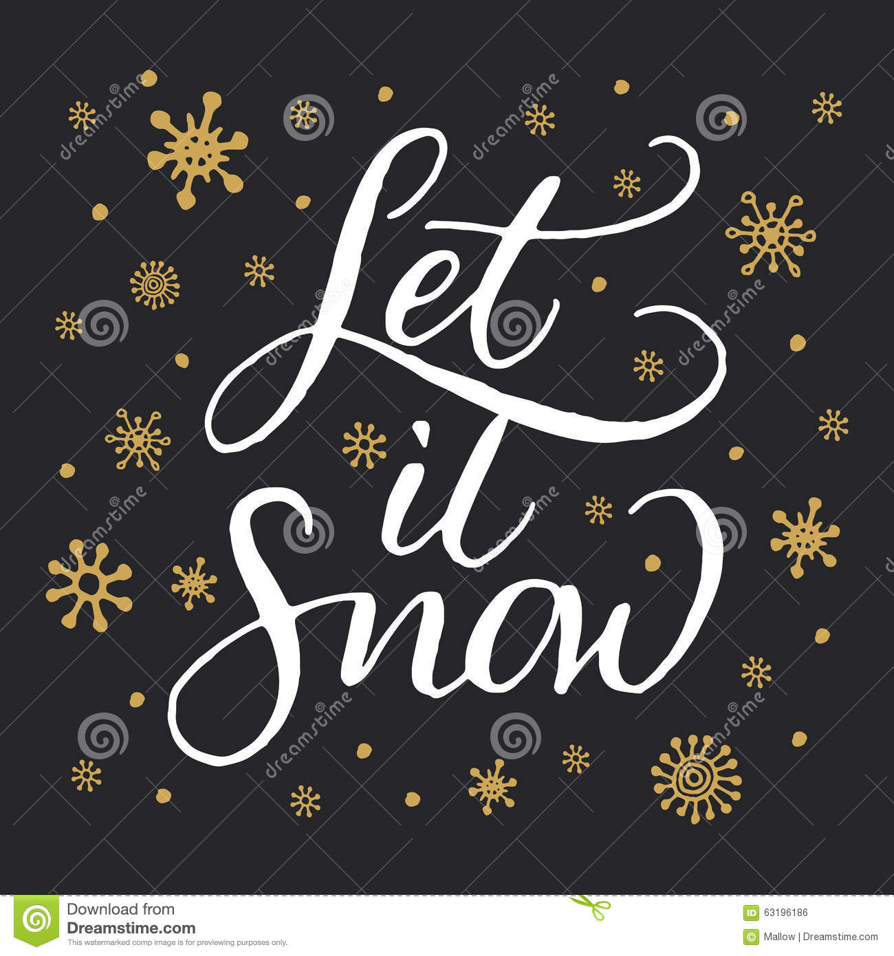 Let It Snow Stock Vector Image 63196186