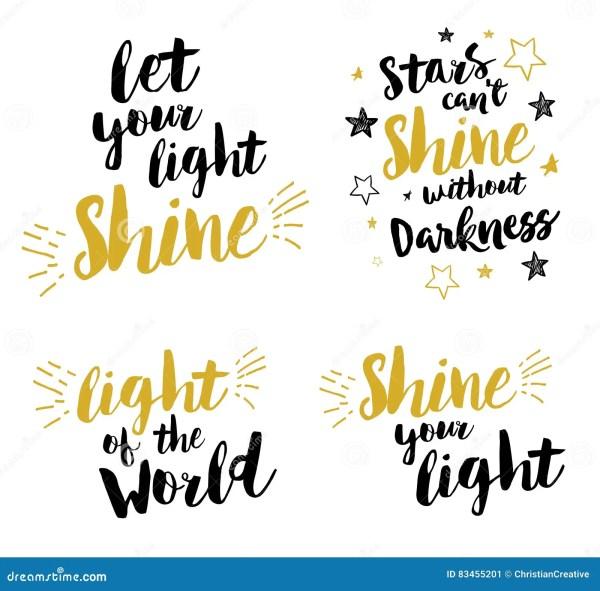 Let Your Light Shine Christian Lettering Printable Set ...