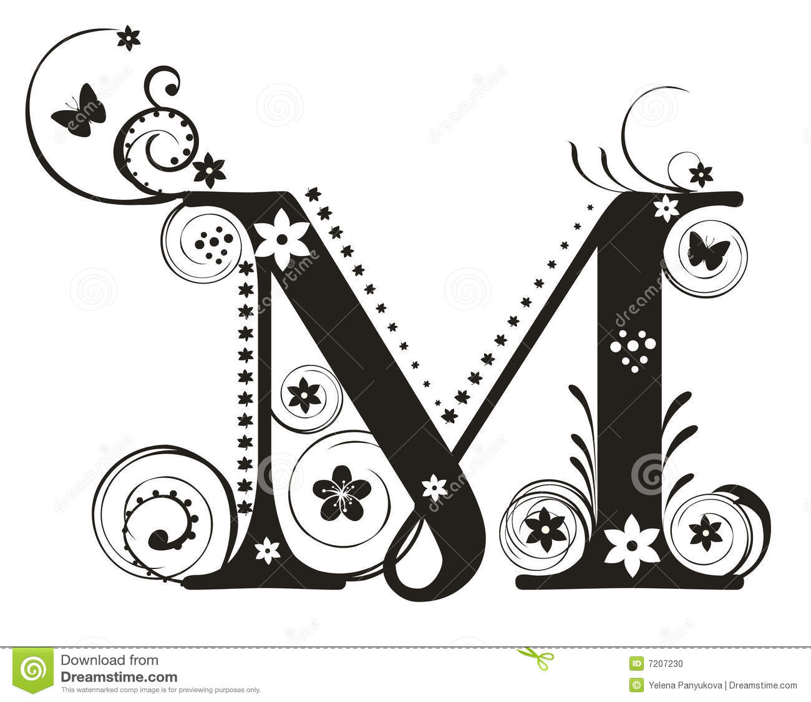 Letra M Ilustracao Do Vetor Ilustracao De Ilustracao
