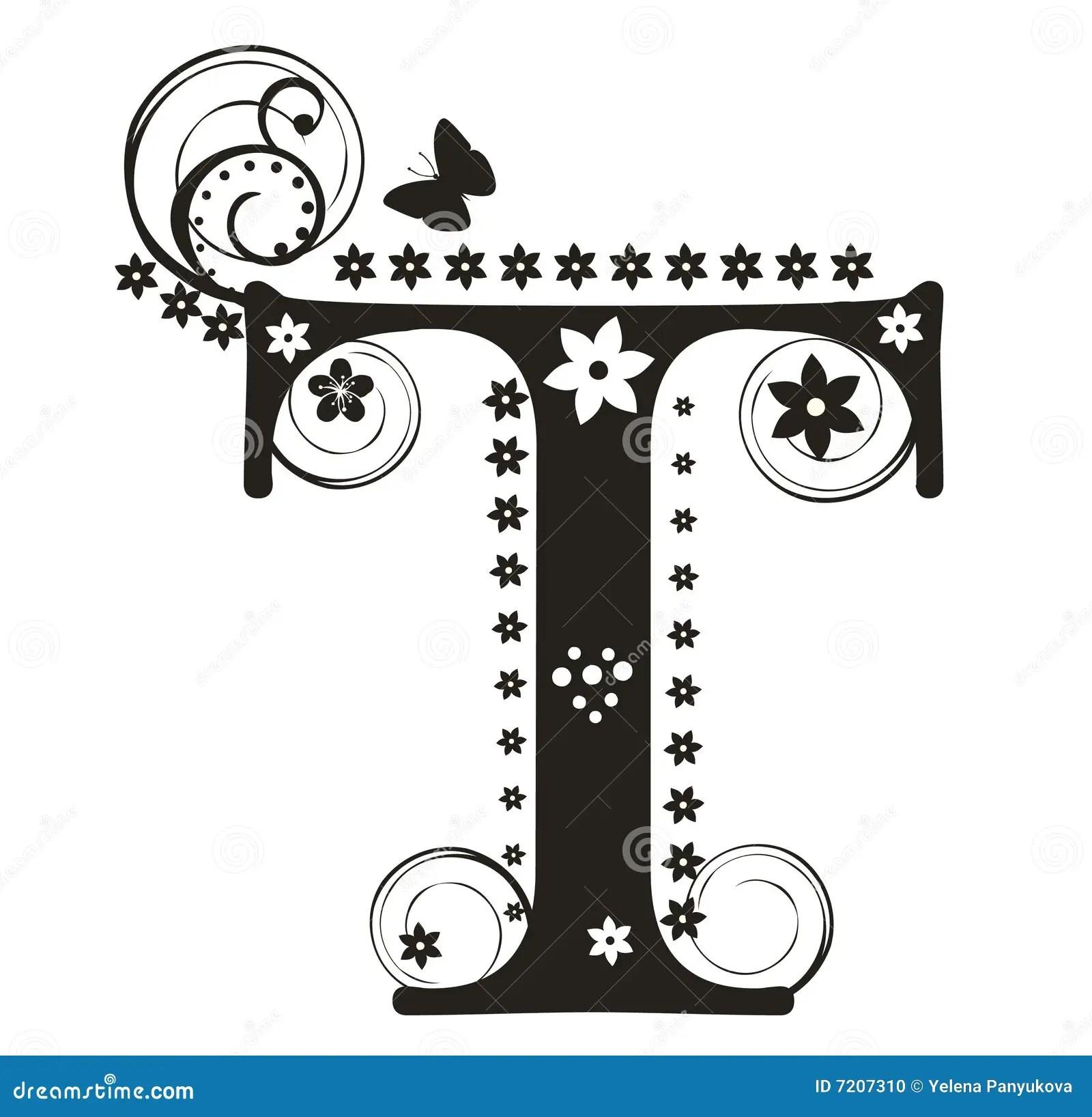 Letra T Ilustracion Del Vector Ilustracion De Ingles