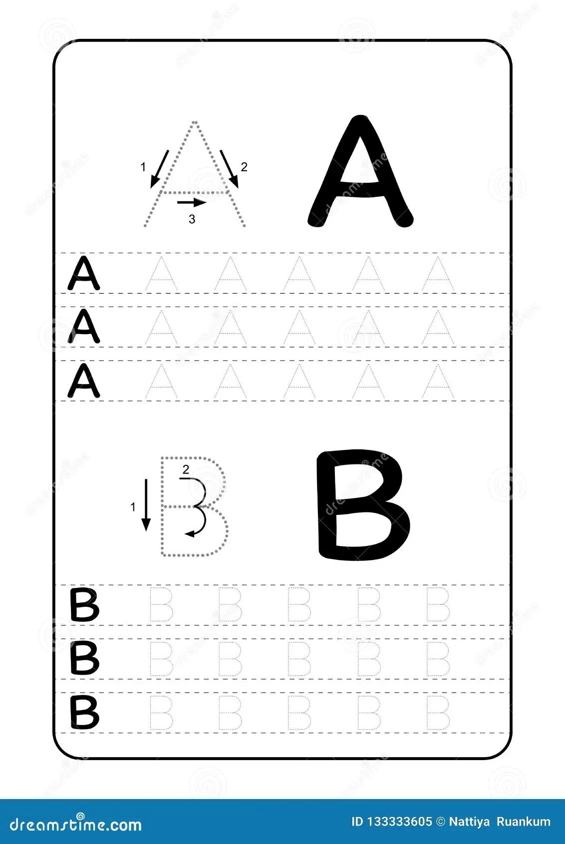 Letras Do Alfabeto De Abc Que Seguem A Folha Com Letras Do