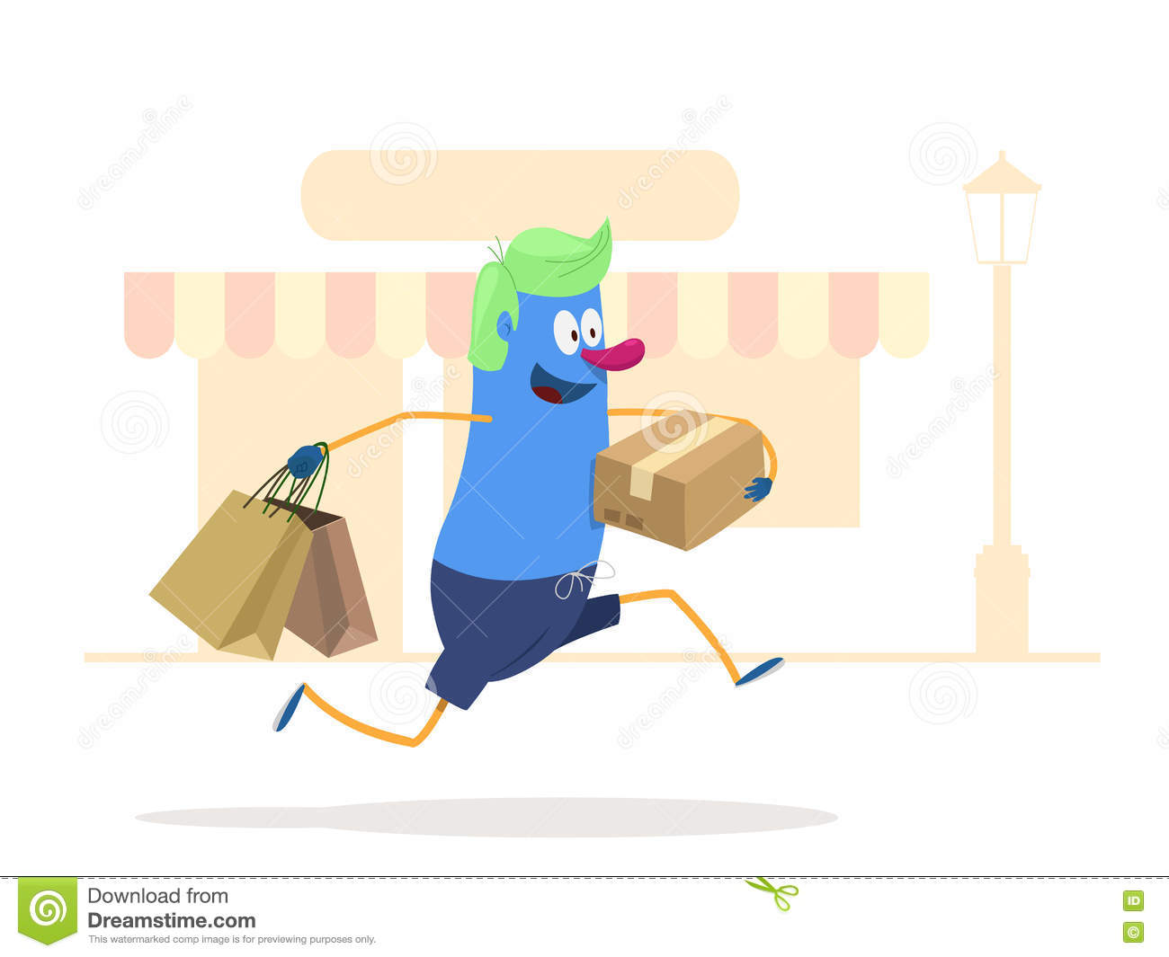 Lets Go Shopping Stock Vector Illustration Of Mall