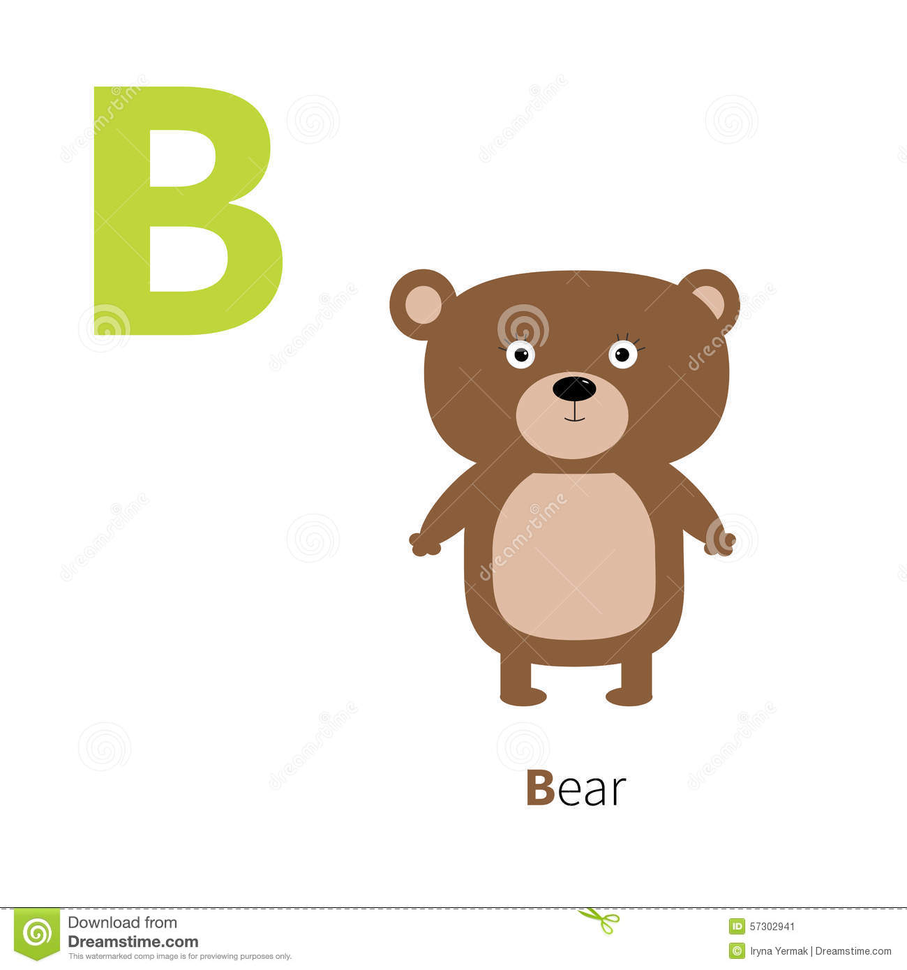 Letter B Bear Zoo Alphabet English Abc Letters With
