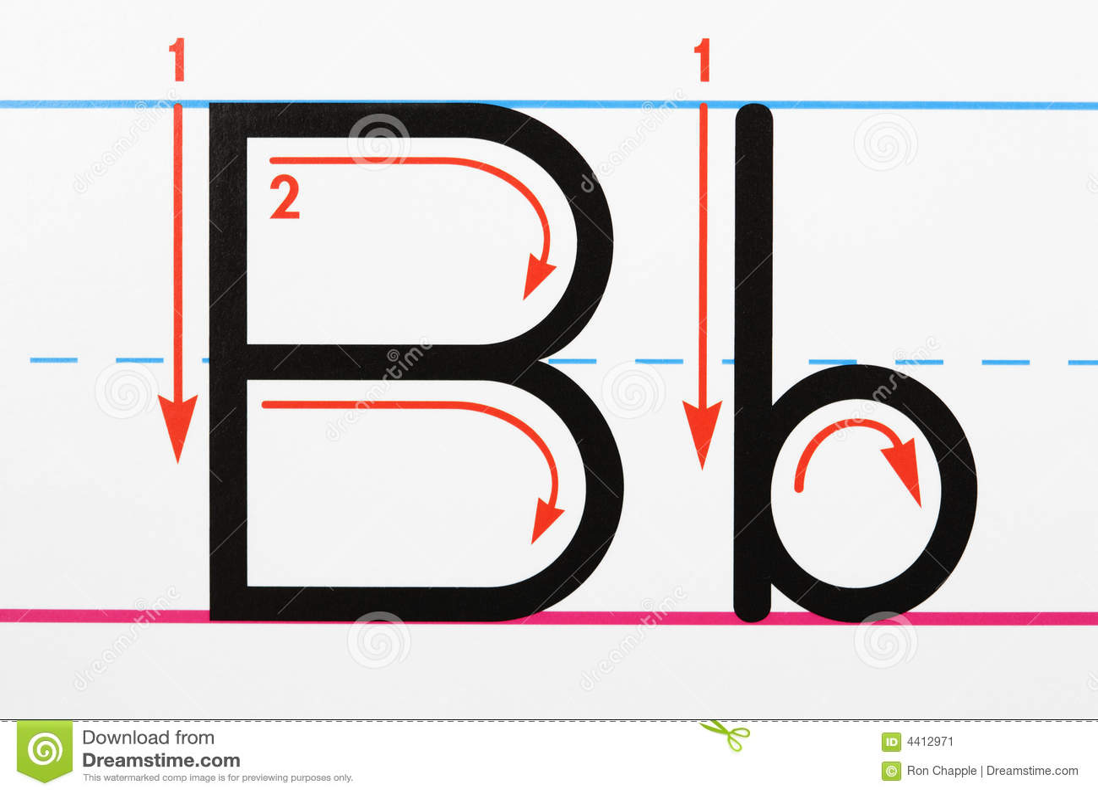 Letter B Handwriting Stock Image Image Of Language