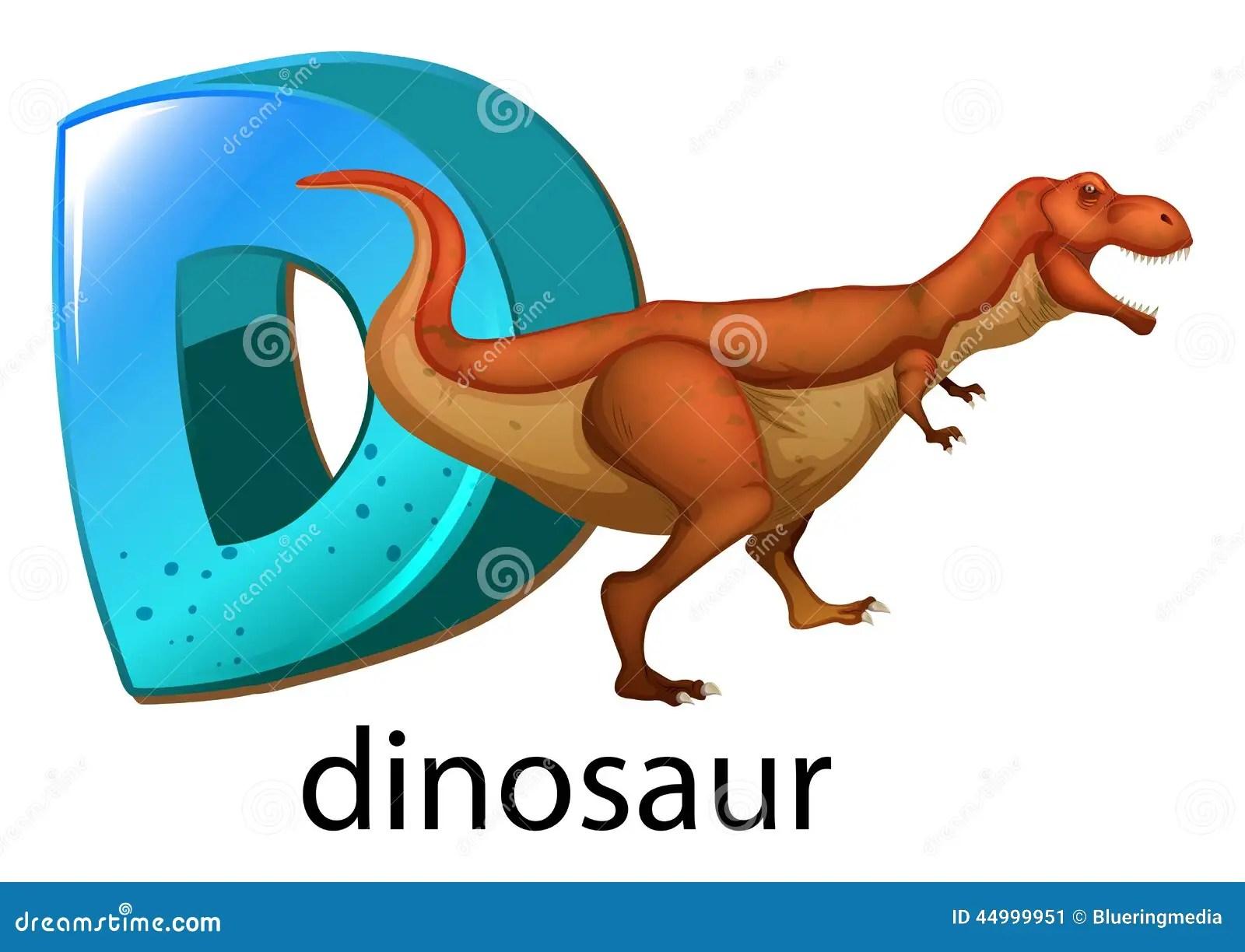 A Letter D For Dinosaur Stock Vector Illustration Of