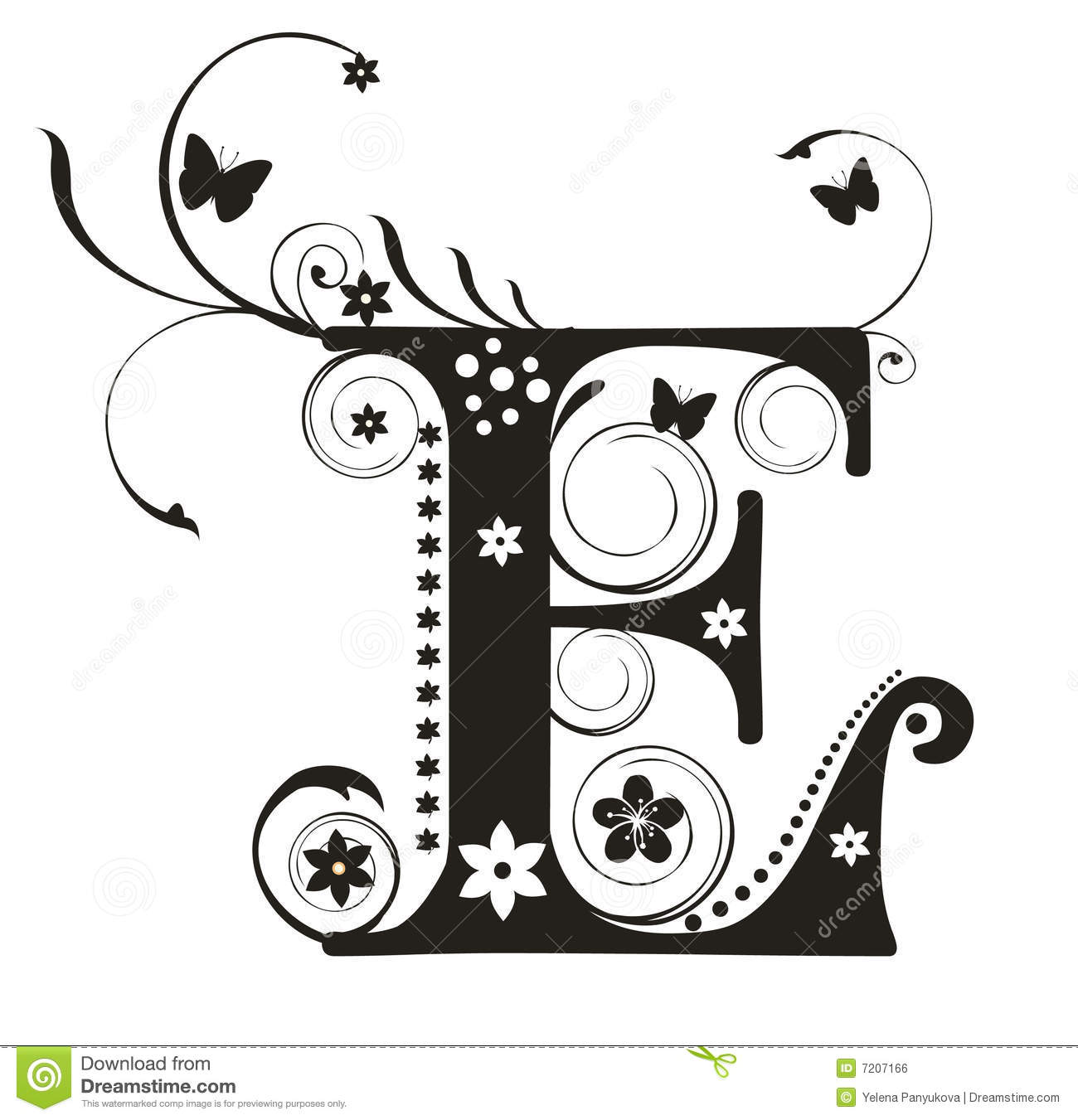 Letter E Stock Vector Image Of Element Floral Write