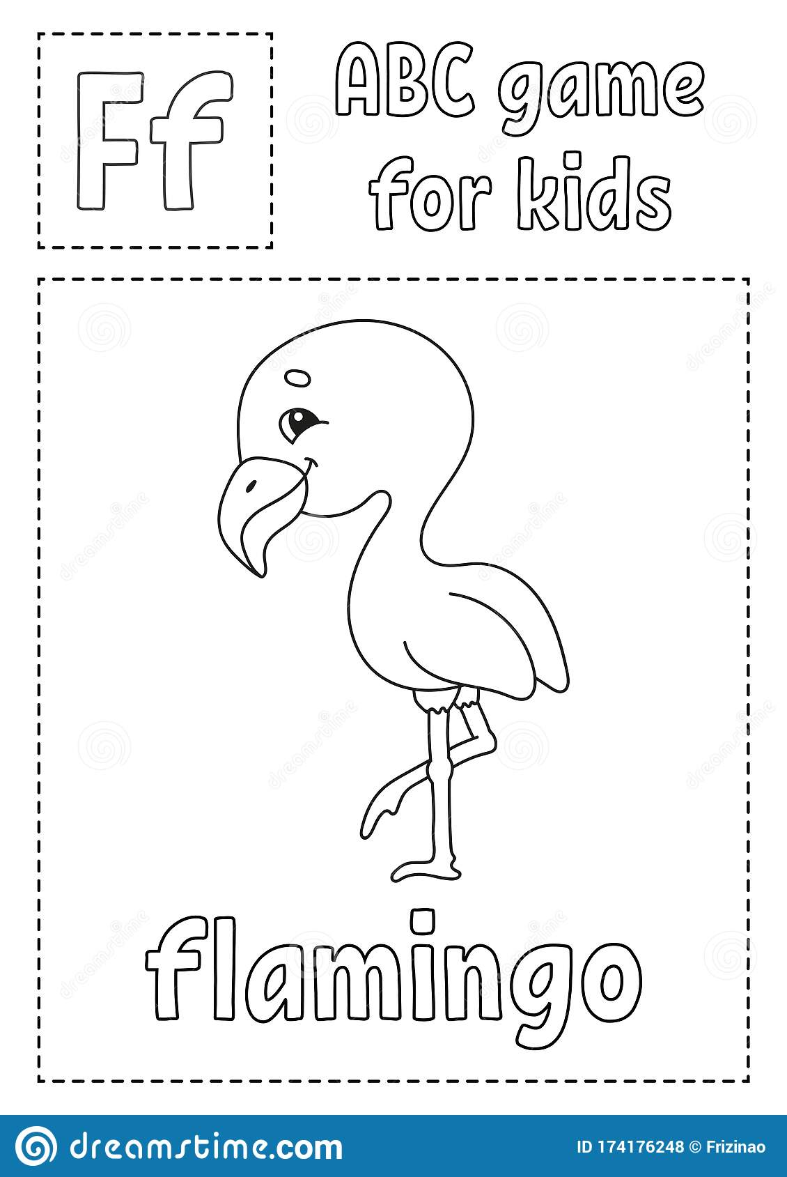 Letter F Is For Flamingo Abc Game For Kids Alphabet