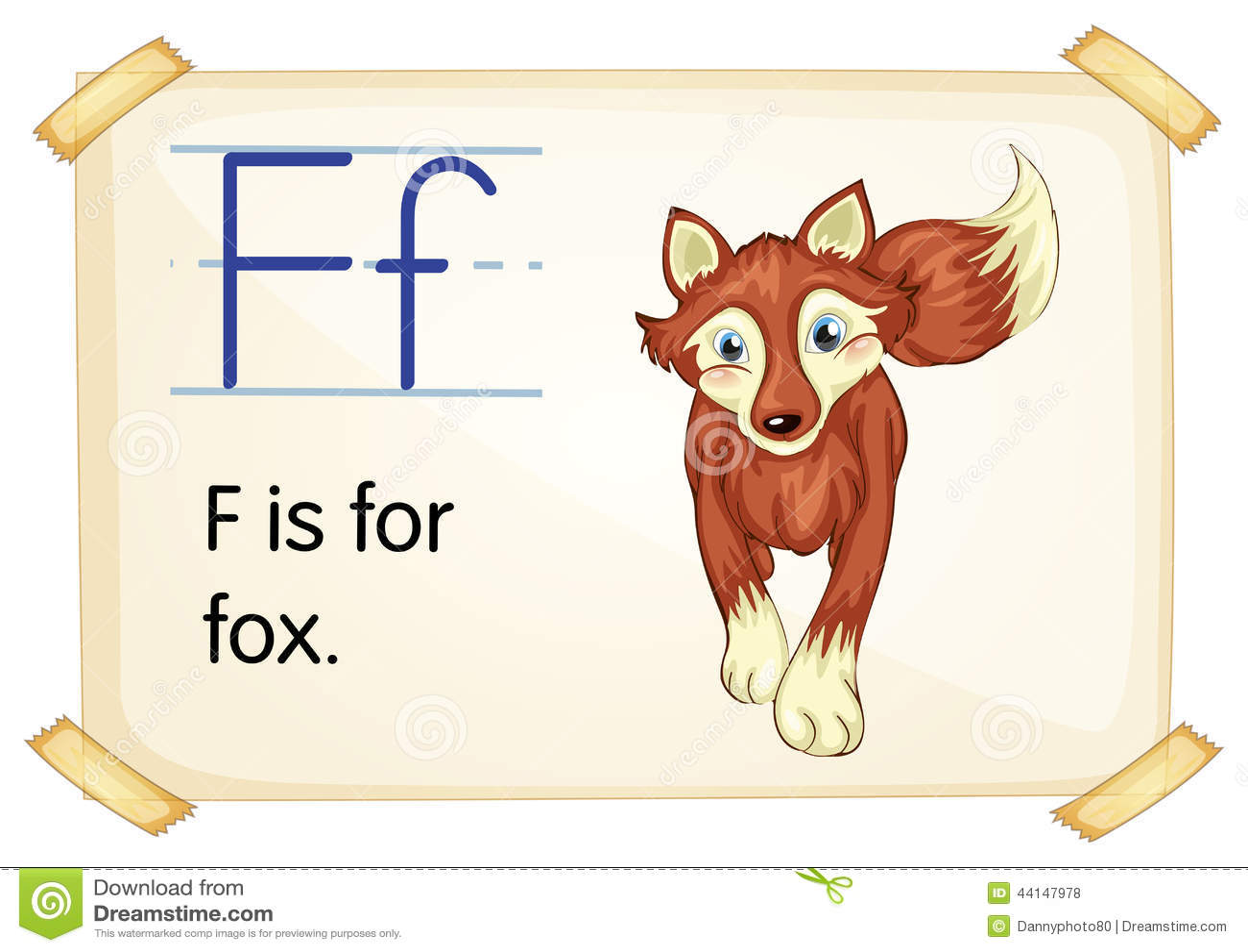 Letter F Stock Vector Image Of Animal Learn Endangered