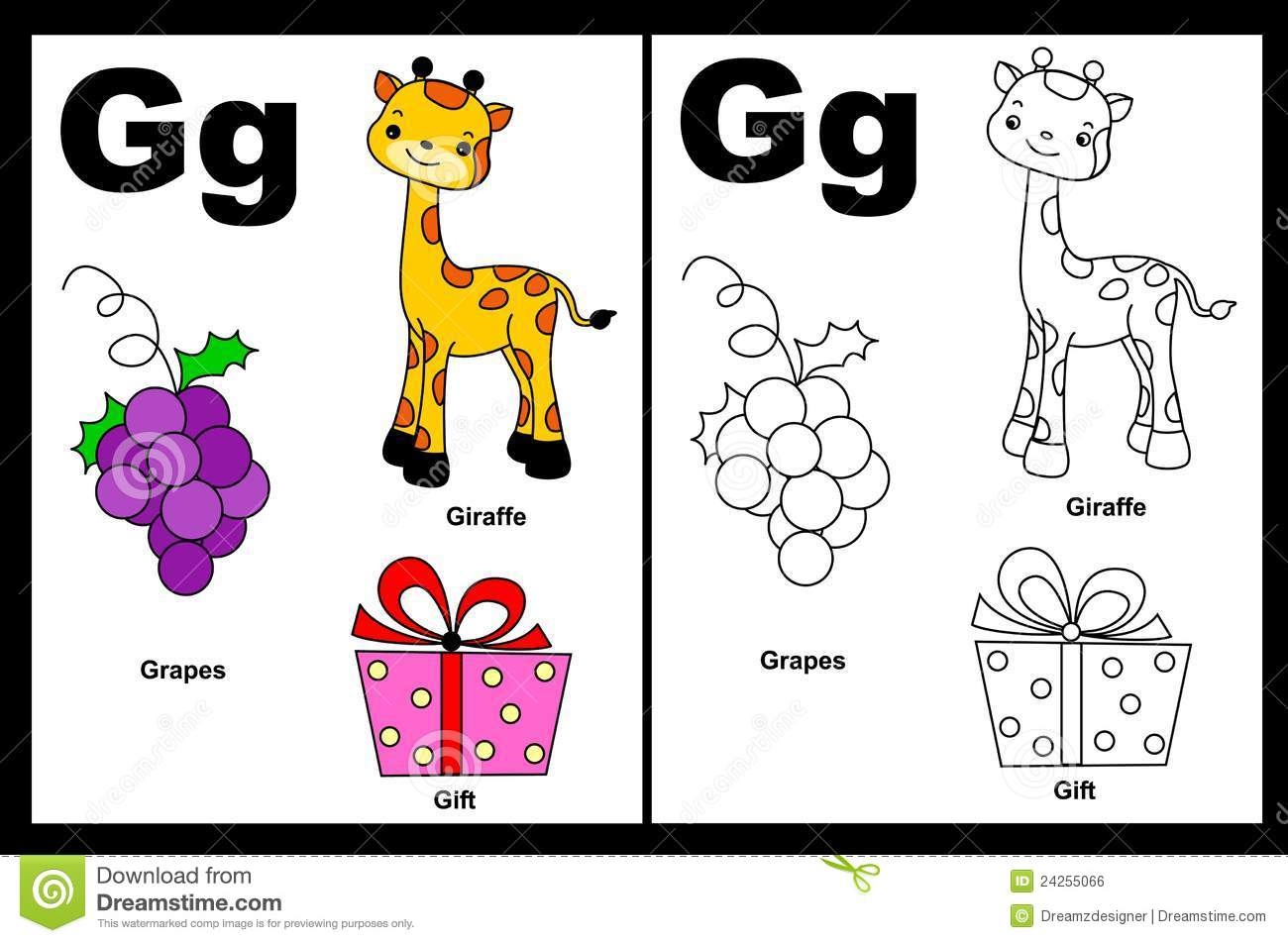 Letter G Worksheet Royalty Free Stock Image