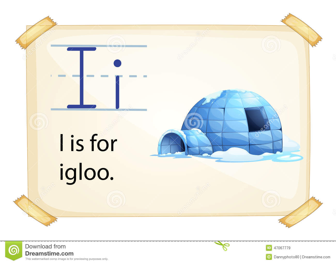 A Letter I For Igloo Stock Vector Illustration Of Drawing