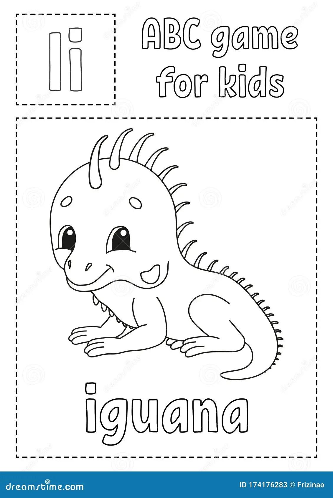 Letter I Is For Iguana Abc Game For Kids Alphabet