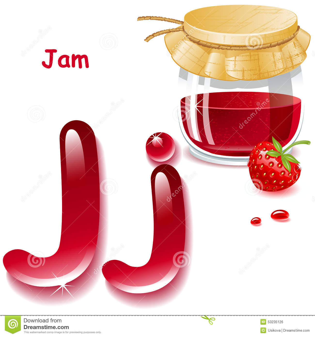 Letter J Stock Illustration