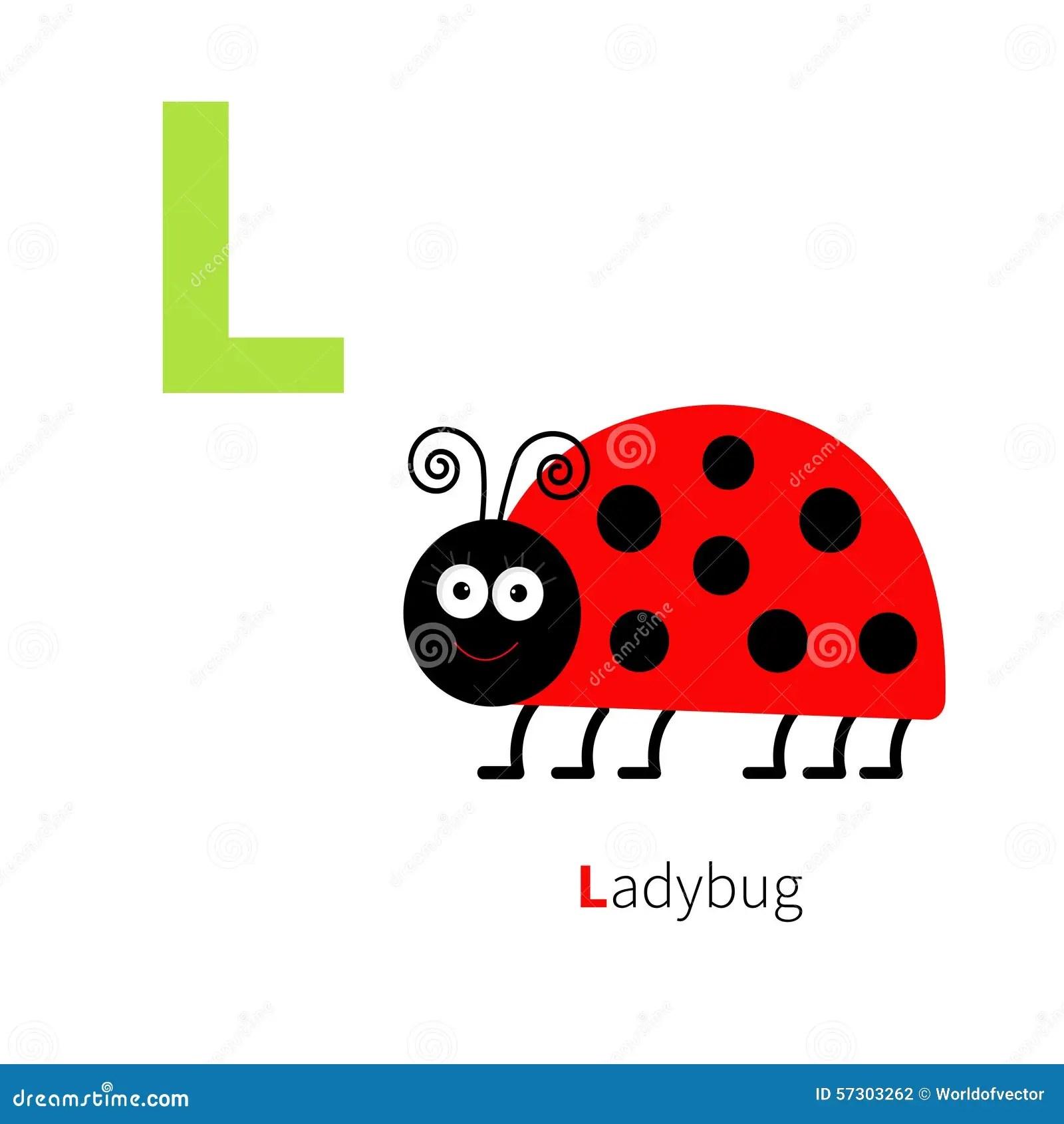Letter L Ladybug Zoo Alphabet English Abc With Animals