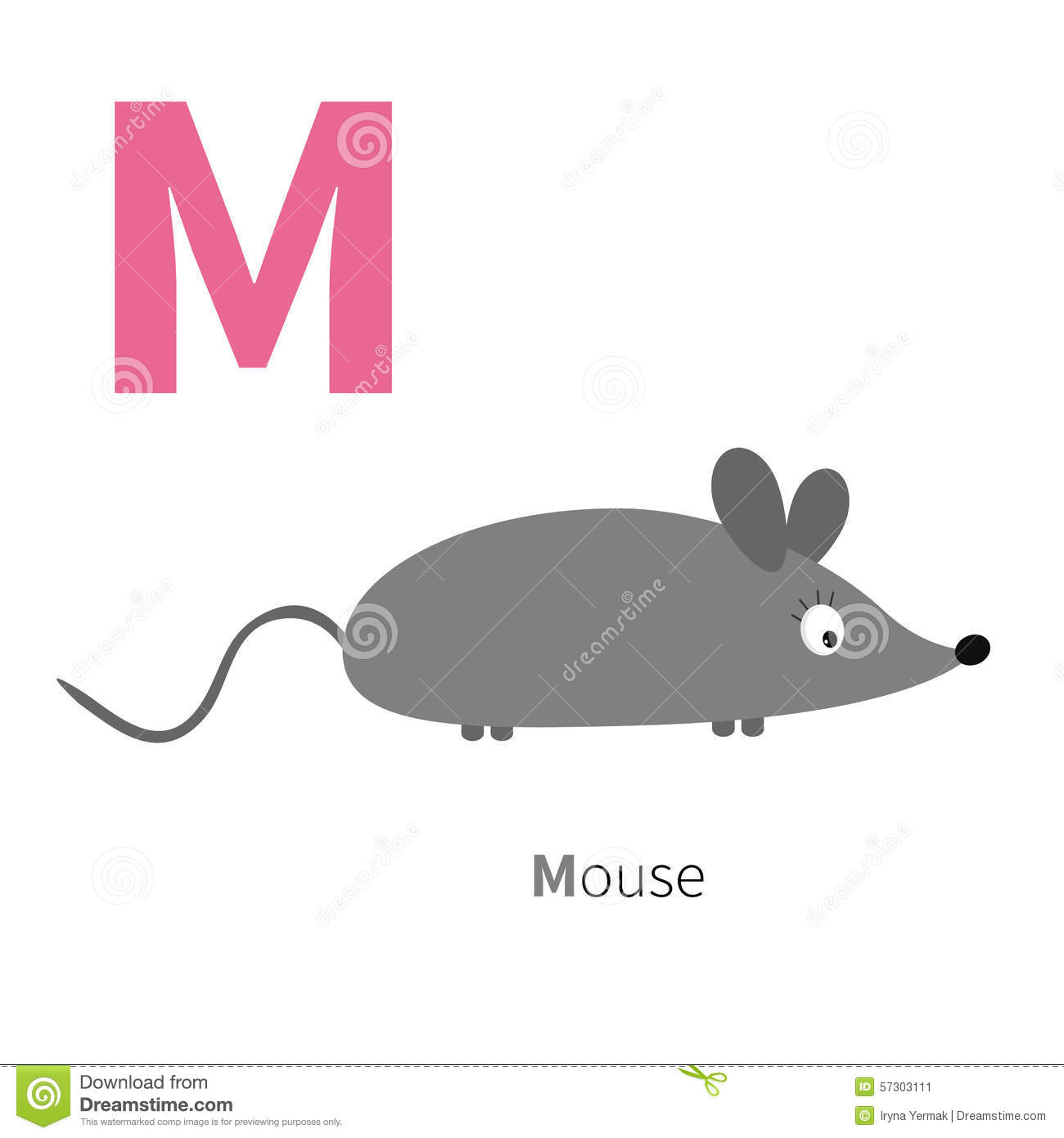 Letter M Mouse Zoo Alphabet English Abc With Animals