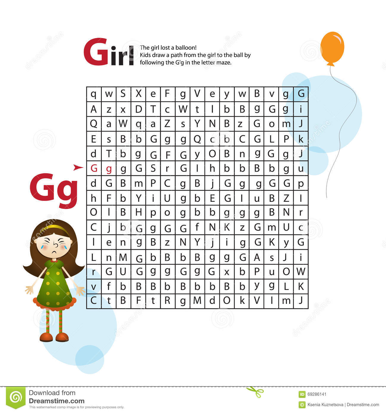 Letter Maze G This Worksheet Helps Kids Recognize And Name Capital And Lowercase Letters Kids