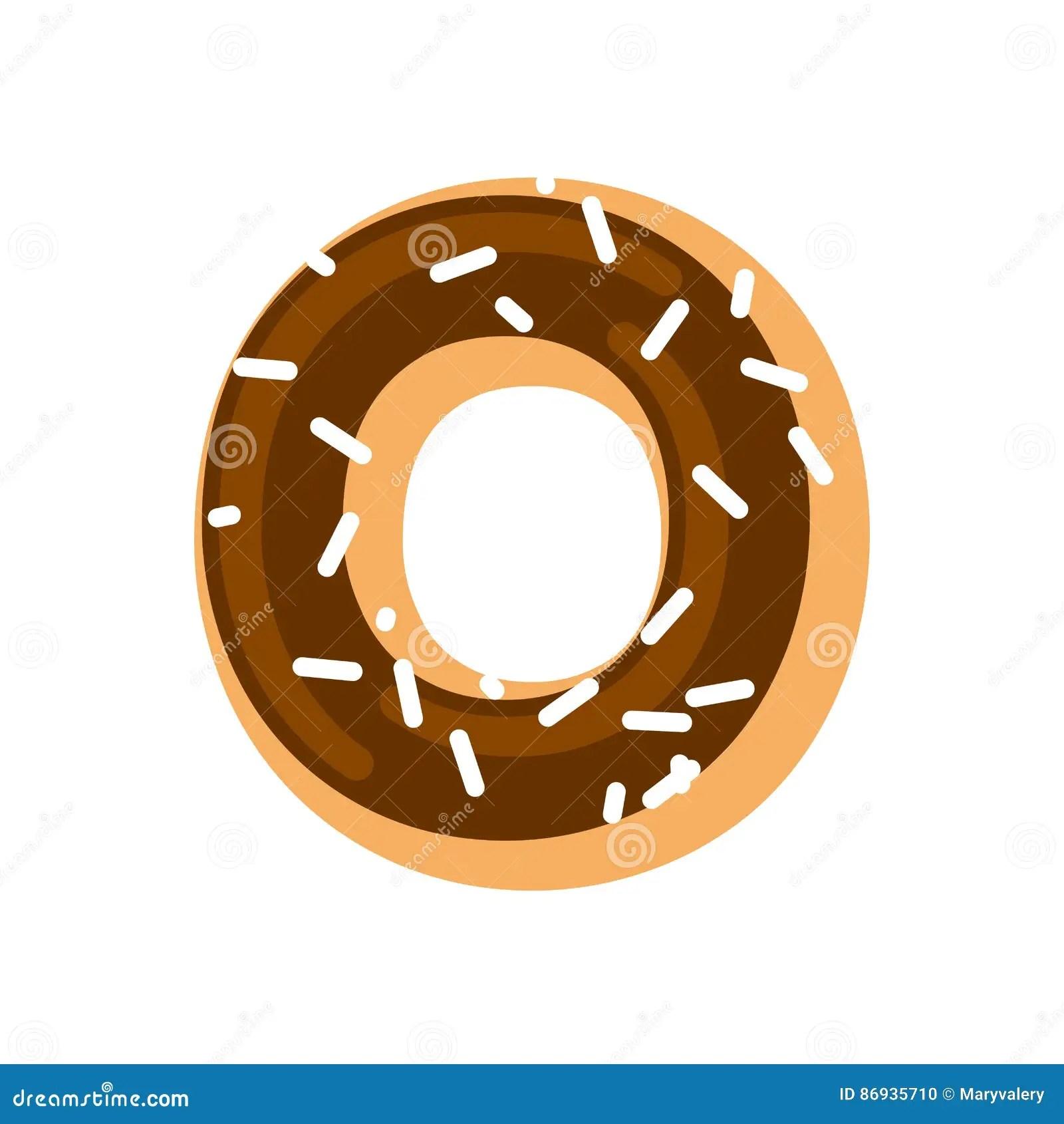 Letter O Donut Font Doughnut Alphabet Sweet Lettering